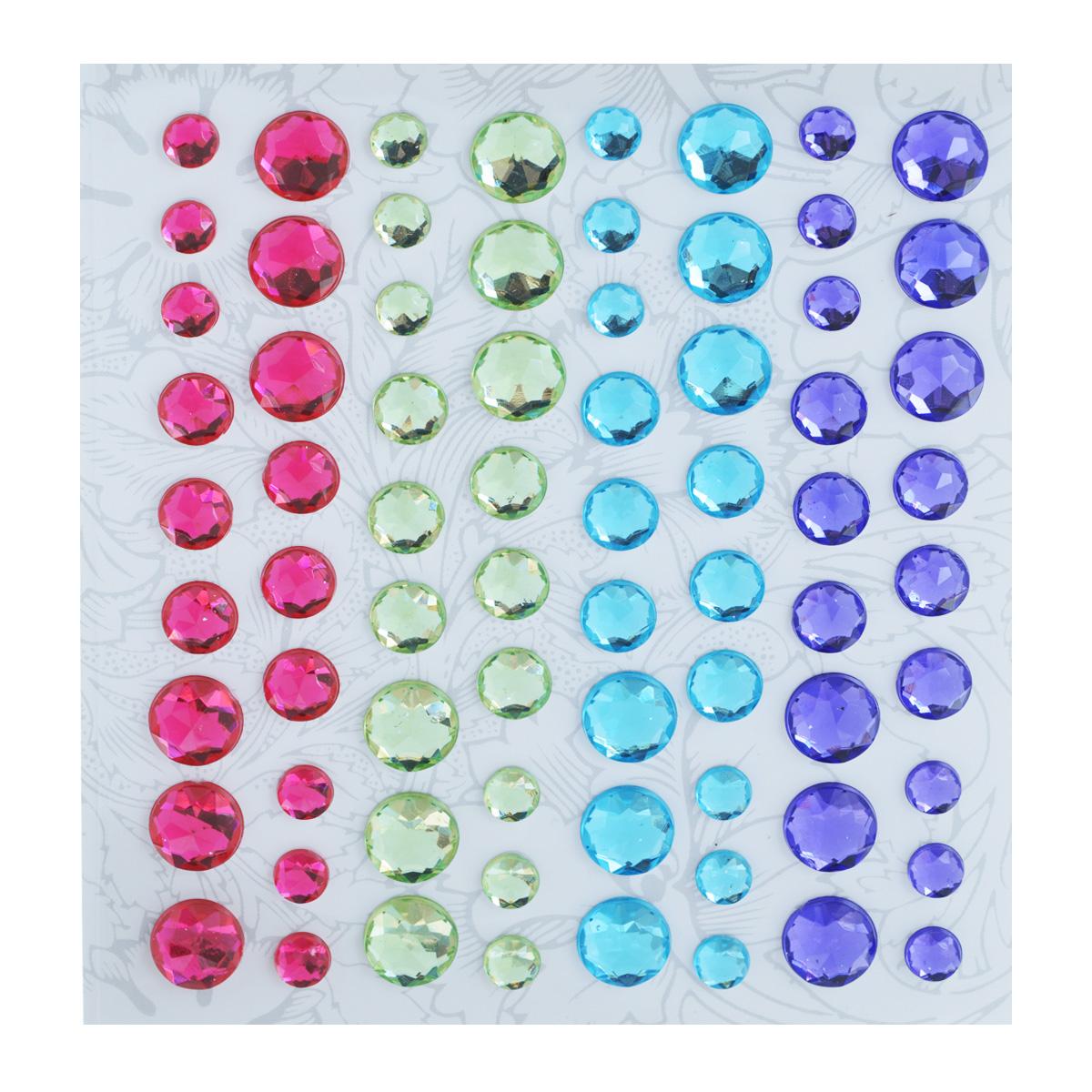 Наклейки декоративные Астра, 72 шт. 77084207708420Декоративные наклейки Астра, изготовленные из пластика, прекрасно подойдут для оформления творческих работ в технике скрапбукинга. Их можно использовать для украшения фотоальбомов, скрап-страничек, подарков, конвертов, фоторамок, открыток и т.д. Объемные разноцветные наклейки круглой формы с рельефной поверхностью оснащены задней клейкой стороной. Скрапбукинг - это хобби, которое способно приносить массу приятных эмоций не только человеку, который этим занимается, но и его близким, друзьям, родным. Это невероятно увлекательное занятие, которое поможет вам сохранить наиболее памятные и яркие моменты вашей жизни, а также интересно оформить интерьер дома. Диаметр наклеек: 6 мм, 8 мм, 10 мм.