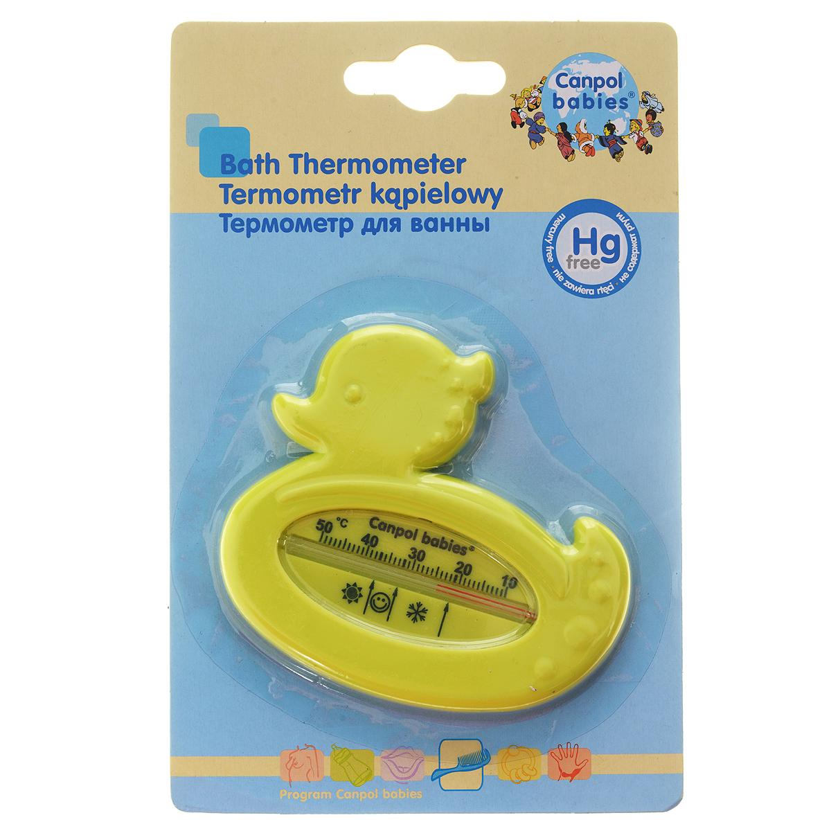 Canpol Babies Термометр для воды цвет зеленый2/781_зеленыйТермометр для воды Canpol Babies выполнен из безопасного материала в форме уточки. Термометр без использования ртути позволяет измерять температуру воды точно, а необычная форма будет привлекать внимание малыша во время купания. Оптимальная температура воды для ребенка от 32°С до 37°С отмечена на шкале изображением смайлика.