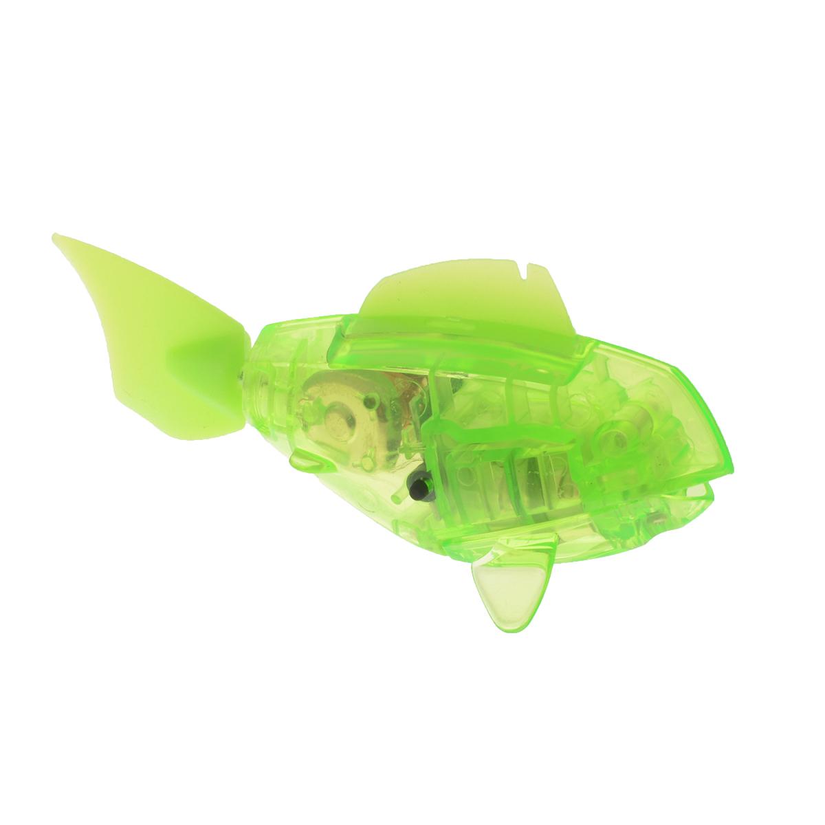 Игровой набор Hexbug Aqua Bot, с аквариумом, цвет: салатовый460-2914_салатовыйУникальный набор Hexbug Aquabot изготовлен из безопасного пластика и выполнен в виде забавной рыбки с аквариумом. Теперь микро-роботы осваивают и водные глубины! В набор входит рыбка-робот и аквариум. Микро-робот Hexbug Aqua Bot плавает как настоящая рыба и непредсказуем в направлении движения. Опустите его в воду и он оживет! Если микро-робот замер, то достаточно просто всколыхнуть воду и он снова поплывёт. Вне воды микро-робот автоматически выключается. Для работы игрушки необходимы 2 батареи типа AG13/LR44 (товар комплектуется демонстрационными).