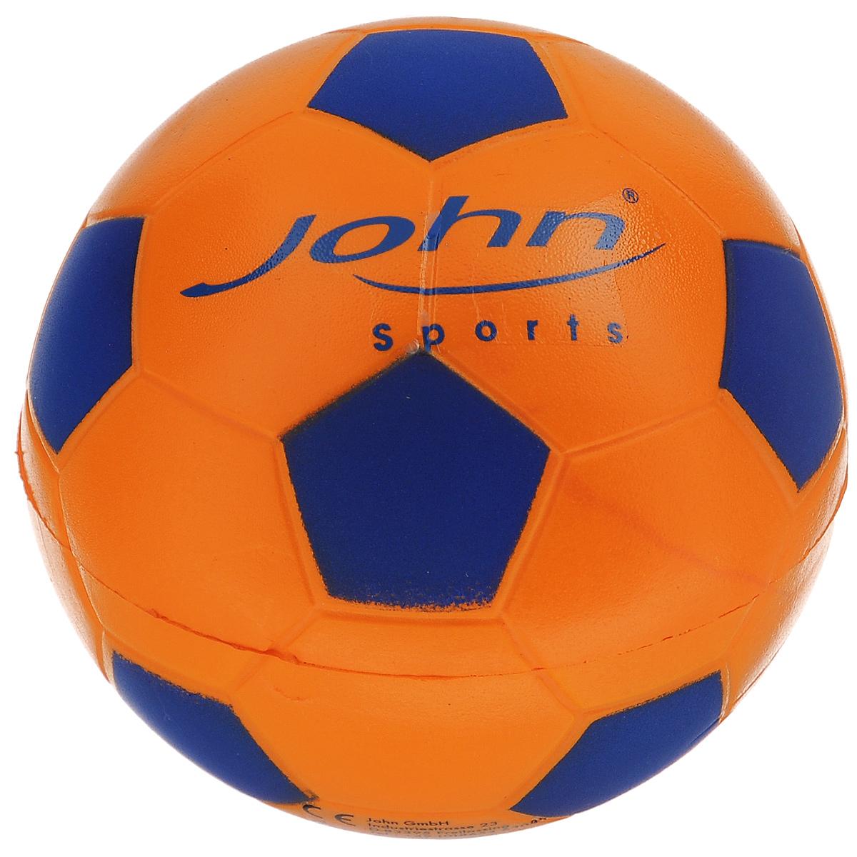 Мяч John Спорт, цвет: оранжевый, синий, 10 см56630_оранжевый-синийМяч John Спорт прекрасно подойдет для игр на свежем воздухе и в зале. Изготовлен из мягкого полиуретана, обладает отличными игровыми качествами. Спортивные игры развивают ловкость, силу, глазомер и быстроту реакции. Порадуйте своего непоседу таким замечательным подарком!