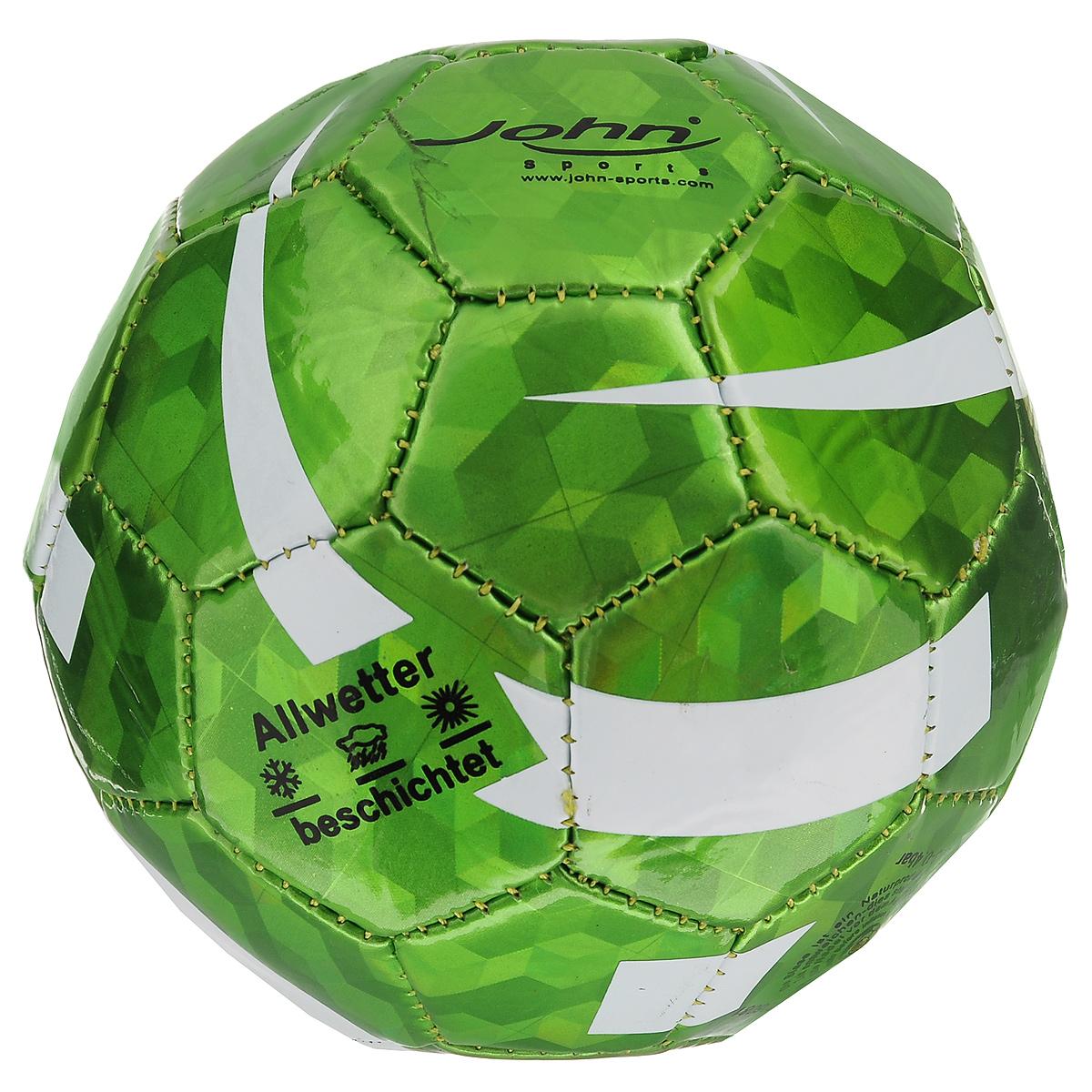 "Мяч для мини-футбола John ""Алмаз"", цвет: зеленый, 14,5 см"