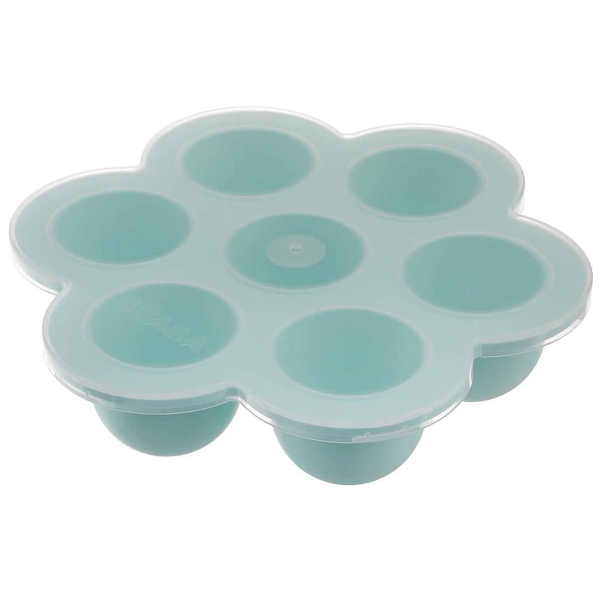 Многопорционный контейнер Beaba, 7 ячеек, 420 мл912426Многопорционный контейнер Beaba выполнен из высококачественного пищевого силикона. Содержит 7 круглых ячеек для хранения и заморозки детской пищи. Прозрачная крышка плотно закрывает ячейки, сохраняя аромат и вкус. Мягкие стенки позволяют легко перекладывать пищу. Контейнер подходит для мытья в посудомоечной машине. Можно использовать для заморозки пищи в холодильнике и морозильной камере, для разогрева в микроволновой печи и духовке (без крышки). Объем ячейки: 60 мл. Диаметр ячейки: 5 см. Высота ячейки: 5 см. Общий объем контейнера: 420 мл. Размер контейнера: 21 см х 19 см.