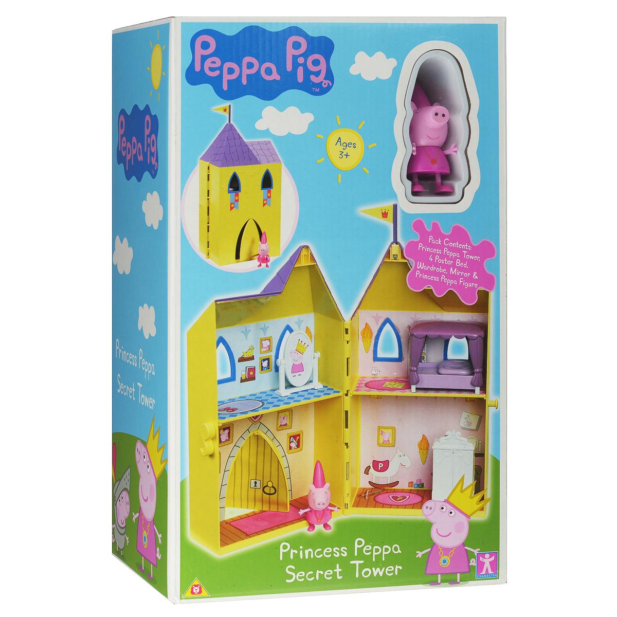 Игровой набор Peppa Pig Замок принцессы15562Игровой набор Peppa Pig Замок принцессы непременно приведет в восторг вашу малышку! Любая девочка мечтает однажды проснуться принцессой и поэтому с радостью играет в игры от лица царственных особ. А знаменитая и любимая детьми свинка Пеппа и ее прекрасный замок - это как раз то, что нужно, чтобы как можно лучше почувствовать себя настоящей дочерью короля! Роскошные апартаменты, состоящие из четырех комнат, прекрасная кукольная мебель, окна и двери, сделанные под старину, а сверху башенка с королевским флагом. Игрушка изготовлена из качественной пластмассы и абсолютно безвредна, поэтому вы можете не беспокоиться о здоровье ребенка. В наборе Замок принцессы двухэтажный домик в виде сказочного, фигурка Пеппы-принцессы с двигающимися ручками и ножками, мебель и аксессуары для оформления внутреннего пространства замка (шкаф, кровать, игрушечное зеркало). Домик разделен на 4 игровые зоны (спальня, гардеробная, игровая комната, парадная с вращающейся дверью). Товар...