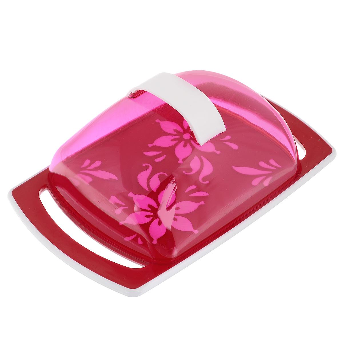 Масленка Альтернатива Премьера, цвет: красныйM1966Масленка Альтернатива Премьера идеально подходит для хранения масла и сервировки стола. Масленка состоит из подноса, выполненного из пластика, и прозрачной пластиковой крышки с ручкой. Благодаря специальным выемкам крышка плотно устанавливается на поднос. Поднос масленки украшен яркими цветами. Масло в такой масленке долго остается свежим, а при хранении в холодильнике не впитывает посторонние запахи. Рекомендации по использованию: - Не используйте для чистки абразивные моющие средства. - Берегите крышку от нагревания. - Хранить вдали от источников тепла. - При отрезании масла избегайте сильных воздействий на основание масленки во избежание ее повреждения. Размер масленки: 18 см х 11,5 см х 5,5 см.