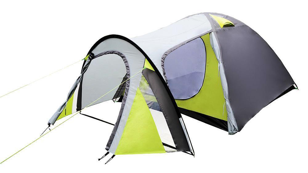 Палатка 4-х местная ATEMI TAIGA 4, цвет: серый, салатовый