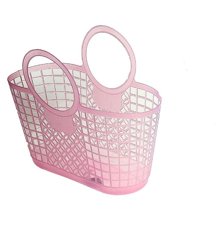 Корзина для мелочей, 31 см х 15 см х 16 см, цвет: розовый. 848399