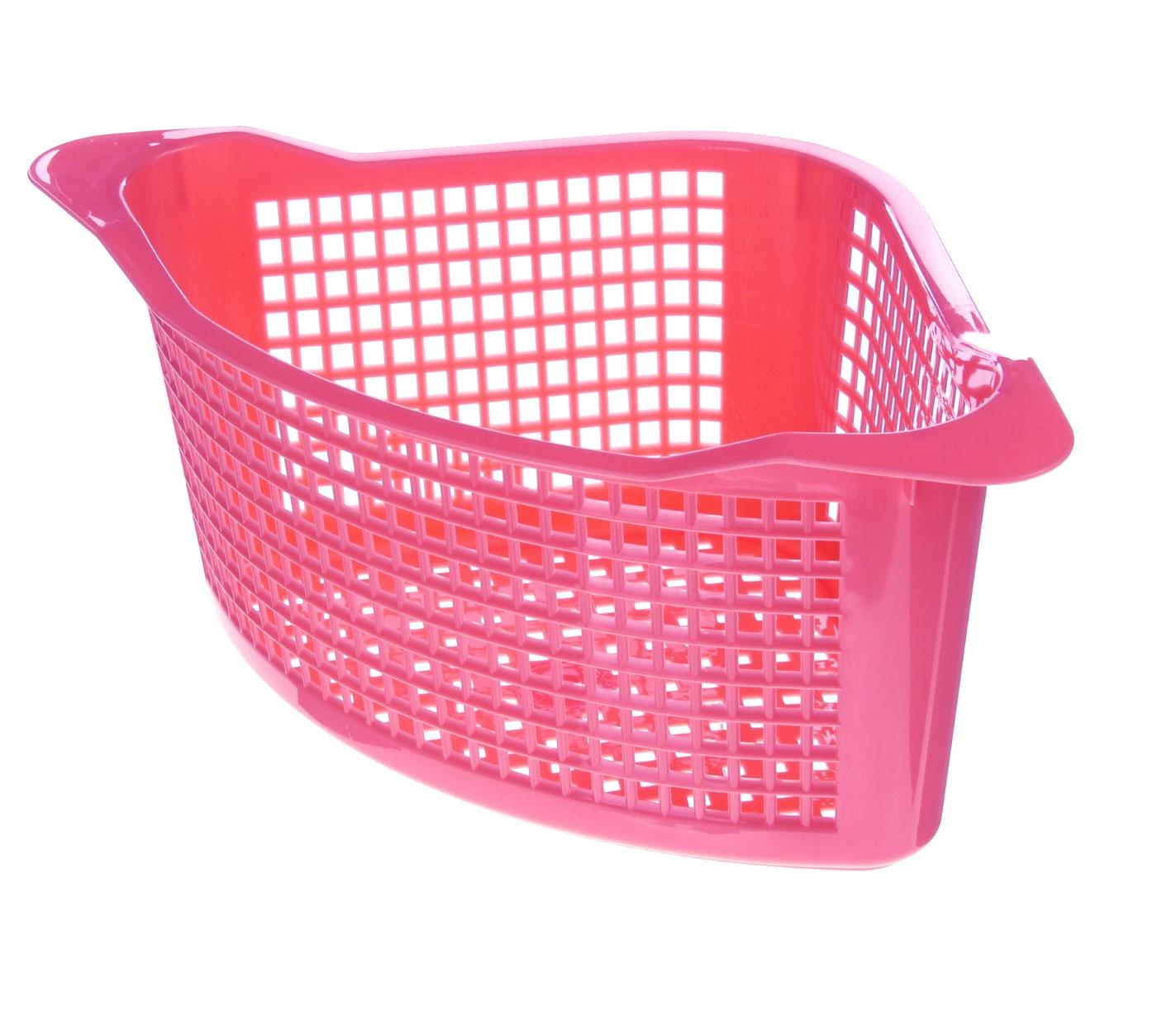 Корзинка универсальная Econova, угловая, цвет: розовый, 29 см х 18 см х 12 см718343Универсальная угловая корзинка Econova, изготовленная из высококачественного прочного пластика, предназначена для хранения мелочей в ванной, на кухне или даче. Это легкая корзина жесткой кромкой и небольшими отверстиями позволяет хранить мелкие вещи, исключая возможность их потери. Размер: 29 см х 18 см х 12 см.