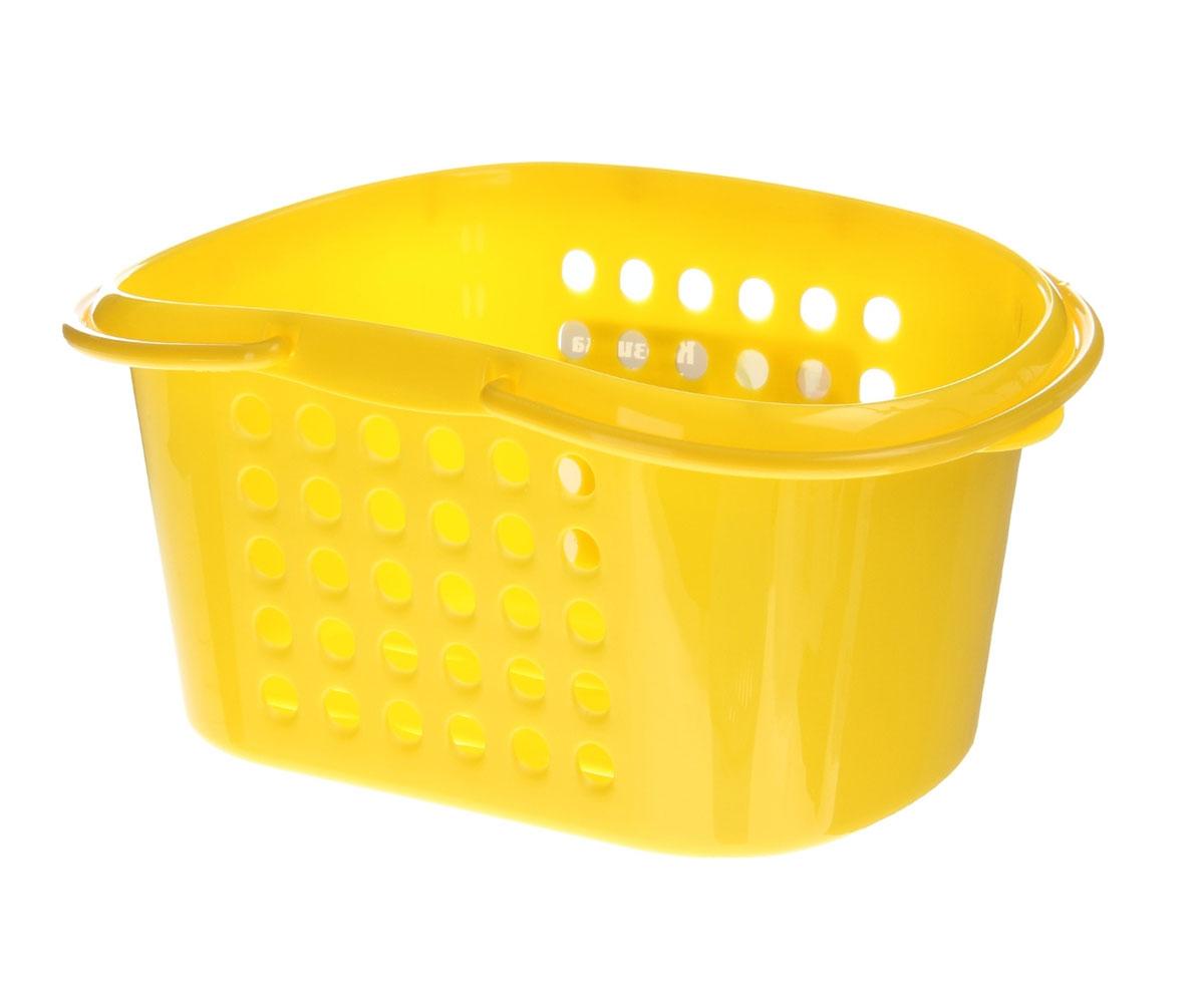Корзинка универсальная Бытпласт, с ручками, цвет: желтый, 23 см х 17,5 см х 11,5 см847544Универсальная корзинка Бытпласт изготовлена из высококачественного пищевого пластика и предназначена для хранения и транспортировки вещей. Корзинка подойдет как для пищевых продуктов, так и для ванных принадлежностей и различных мелочей. Изделие оснащено двумя ручками для более удобной транспортировки. Основание и стенки корзинки оформлены перфорацией, что обеспечивает естественную вентиляцию. Универсальная корзинка Бытпласт позволит вам хранить вещи компактно и с удобством. Размер корзинки: 23 см х 17,5 см х 11,5 см.