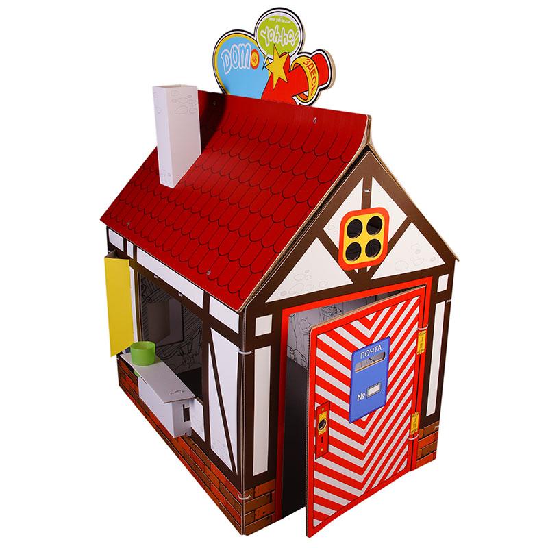 Yoh-ho! Kids Детский домик-ширма Я в домике! Классика + Декор Йохо4623721061776Детский домик-ширма с раскраской и игровым реквизитом: коврик с настольной игрой, ключ, паспорт, кредитка и водительские права страны Yoh-ho! из бело-бурого гофрокартона 7 и 3 мм в наборе с крепежными элементами. Сменный декор с игровым реквизитом: труба-раскраска, флаги, вывески, навес, термометр, монетки из плотного картона 320 г с полноцветной печатью. Крепится к основе хомутиками через вырубленные отверстия.