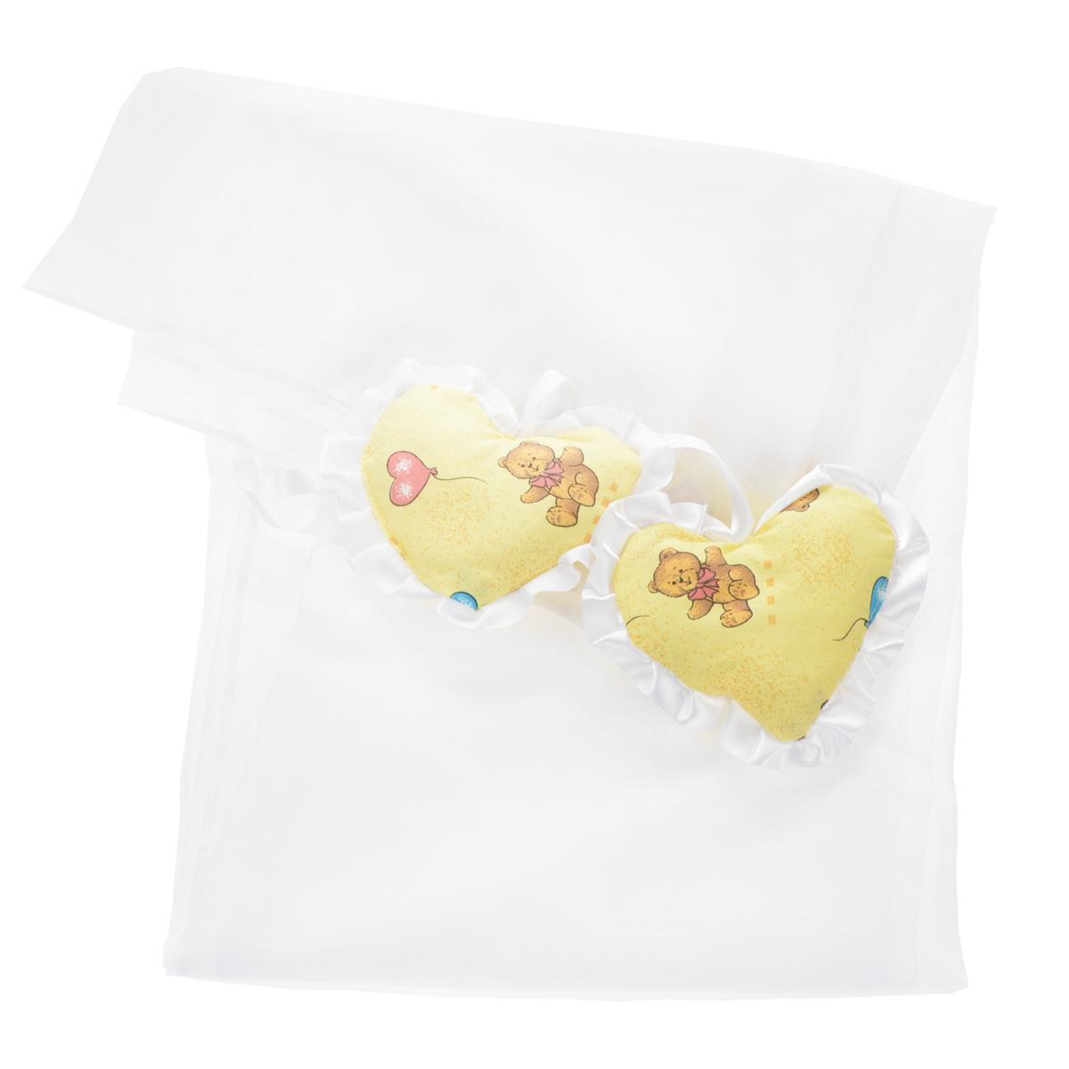 Балдахин Фея, цвет: белый, желтый, 250 см х 150 см
