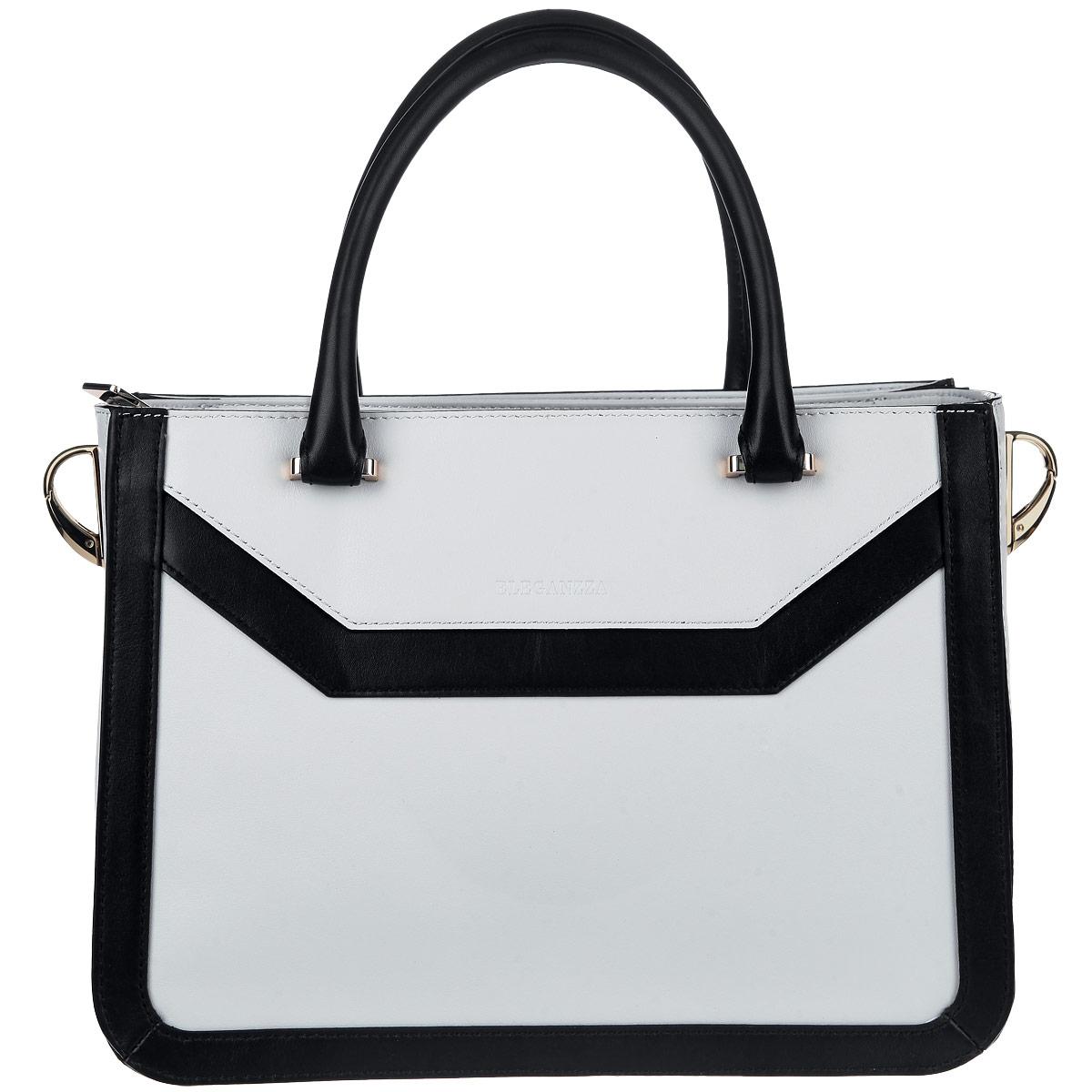 Сумка женская Eleganzza, цвет: серый, черный. ZT-36156AGZT-36156AG