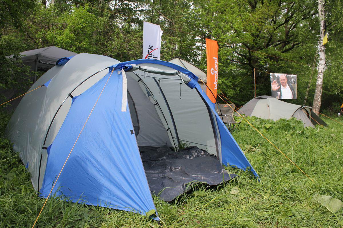Палатка туристическая CAMPACK-TENT Breeze Explorer 4 (2013) (серый/голубой) арт.0037636