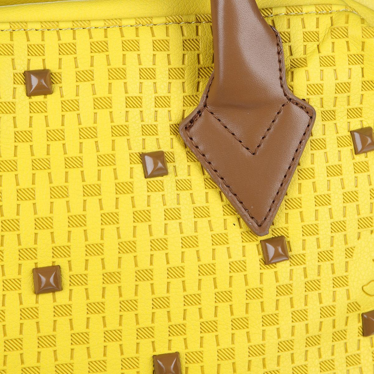 Сумка женская Orsa Oro, цвет: желтый, коричневый. D-801/49