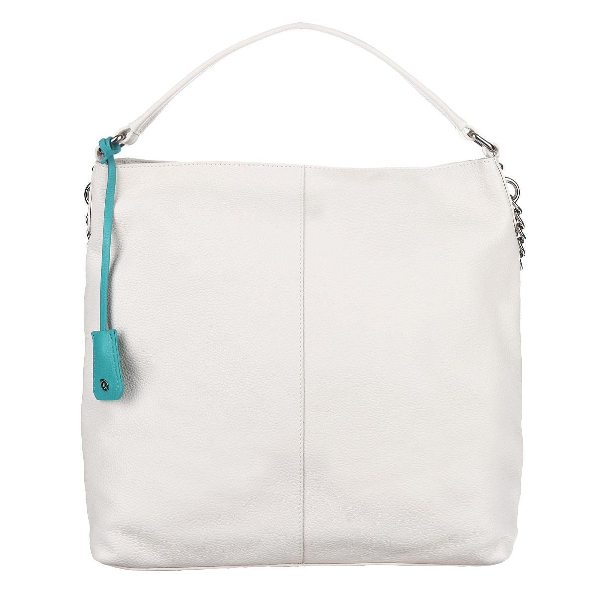 Сумка женская Pimobetti, цвет: кремовый. 13796B1-W113796B1-W1Модная женская сумка Pimobetti изготовлена из натуральной кожи и оформлена фактурным тиснением, стильным фирменным брелоком. В сумке - одно отделение, закрывающееся на застежку-молнию. Внутри - два накладных кармашка для мелочей и один врезной карман на молнии. На обратной стороне изделия расположен врезной карман на застежке-молнии. Ручка и плечевой ремень выполнены в виде кожаных ремешков, переходящих в металлические цепочки. Дно оснащено металлическими ножками, защищающими изделие от повреждений. Изделие упаковано в фирменный чехол. Сумка - стильный аксессуар, который подчеркнет вашу индивидуальность и изысканность и сделает ваш образ завершенным.