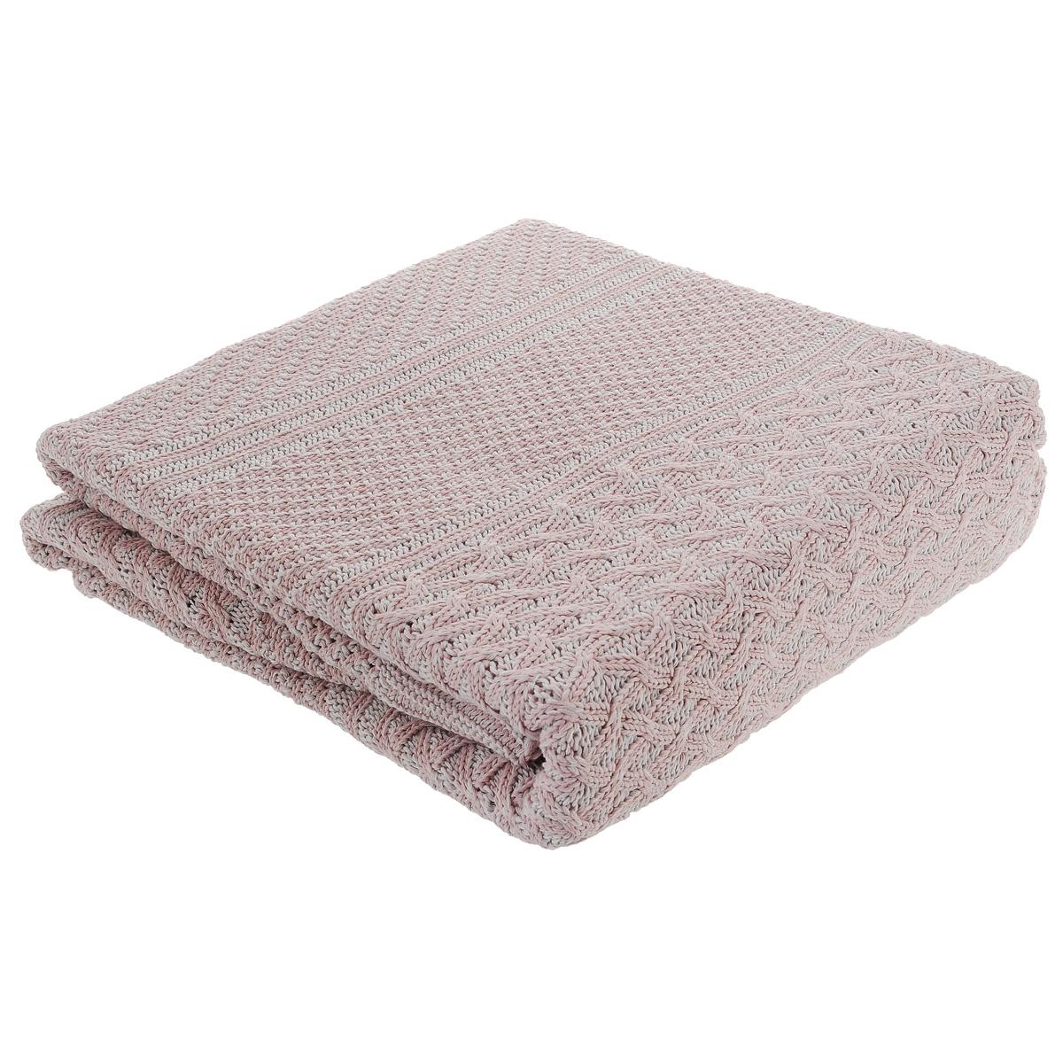Покрывало вязанное Леди прима Верона, цвет: розовый, 150 х 200 см1100/0006042/2003Вязаное покрывало Леди прима Верона - это элегантное сочетание мягкости, тепла, красоты и комфорта. Покрывало выполнено на 80% из хлопка и на 20% из полиэстера. Изделие имеет красивый вязаный узор. Таким покрывалом можно не только украсить постель, но и использовать их в качестве пледа. Элегантный дизайн и приятная фактура покрывала, создаст по-настоящему уютный интерьер, пребывание в котором не надоест долгие годы. Покрывало особенно понравятся людям, ценящим изысканность и качество. Изделие упаковано в подарочную коровку.