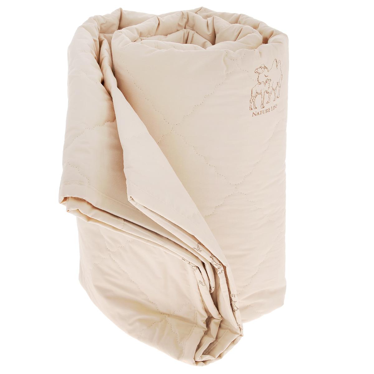 """Одеяло La Prima """"Верблюжья шерсть"""", наполнитель: верблюжья шерсть, полиэфирное волокно, цвет: темно-бежевый, 140 см х 205 см 1080/0224886"""