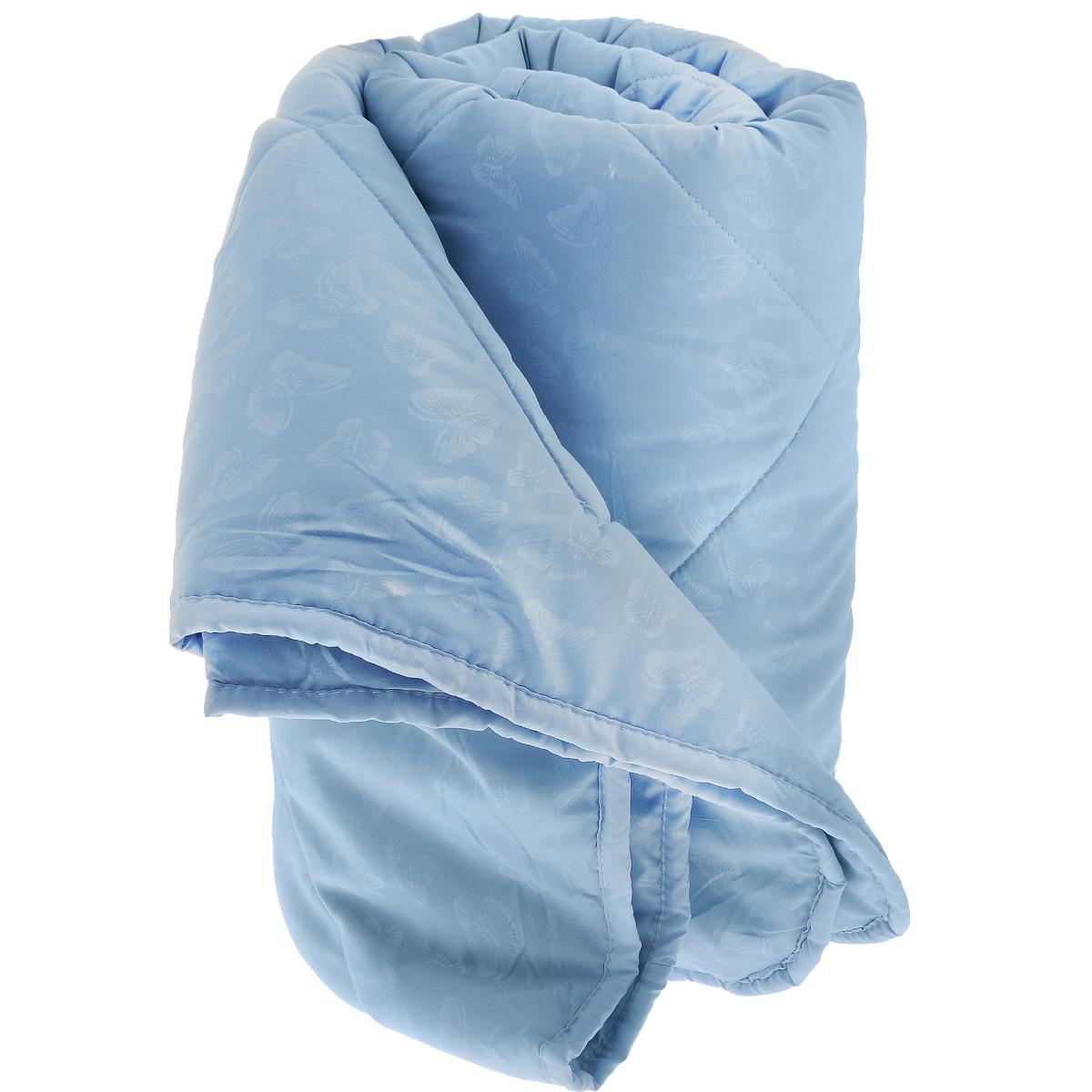 Одеяло La Prima В нежности микрофибры, наполнитель: полиэфирное волокно, цвет: голубой, 170 см х 205 см857/0222945/100/949Одеяло La Prima В нежности микрофибры очень легкое, воздушное и одновременно теплое. Идеально подойдет тем, кто ценит мягкость и тепло. Такое изделие подарит комфортный сон. Благодаря особой структуре микроволокна, изделие приобретают дополнительную мягкость и надолго сохраняют свой первоначальный вид. Чехол одеяла выполнен из шелковистой микрофибры, оформленной изящным фактурным теснением в виде бабочек. Наполнитель - полиэфирное волокно - холлотек. Изделие обладает высокой воздухопроницаемостью, прекрасно сохраняет тепло. Оно гипоаллергенно, очень практично и неприхотливо в уходе. Ручная стирка при температуре 30°С. Материал чехла: 100% полиэстер - микрофибра. Наполнитель: полиэфирное волокно - холлотек. Размер: 170 см х 205 см.