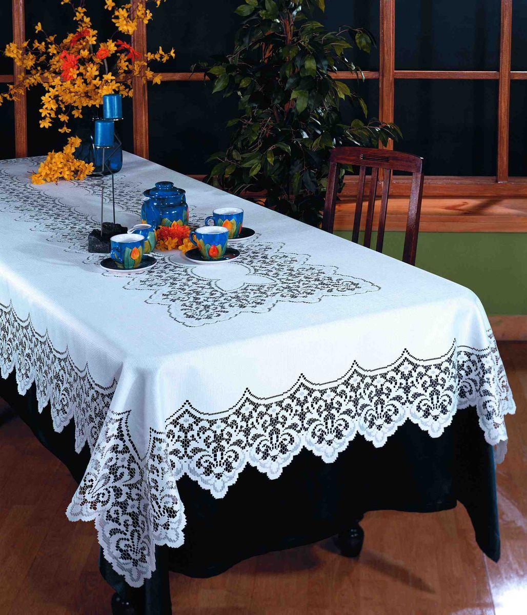 Скатерть Wisan Fukasz, прямоугольная, цвет: белый, 150 x 300 см1826Великолепная прямоугольная скатерть Wisan Fukasz, выполненная из 100% полиэстера, органично впишется в интерьер любого помещения, а оригинальный дизайн удовлетворит даже самый изысканный вкус. Скатерть изготовлена из сетчатого материала с ажурным орнаментом по краям и по центру. Скатерть Wisan Fukasz создаст праздничное настроение и станет прекрасным дополнением интерьера гостиной, кухни или столовой.