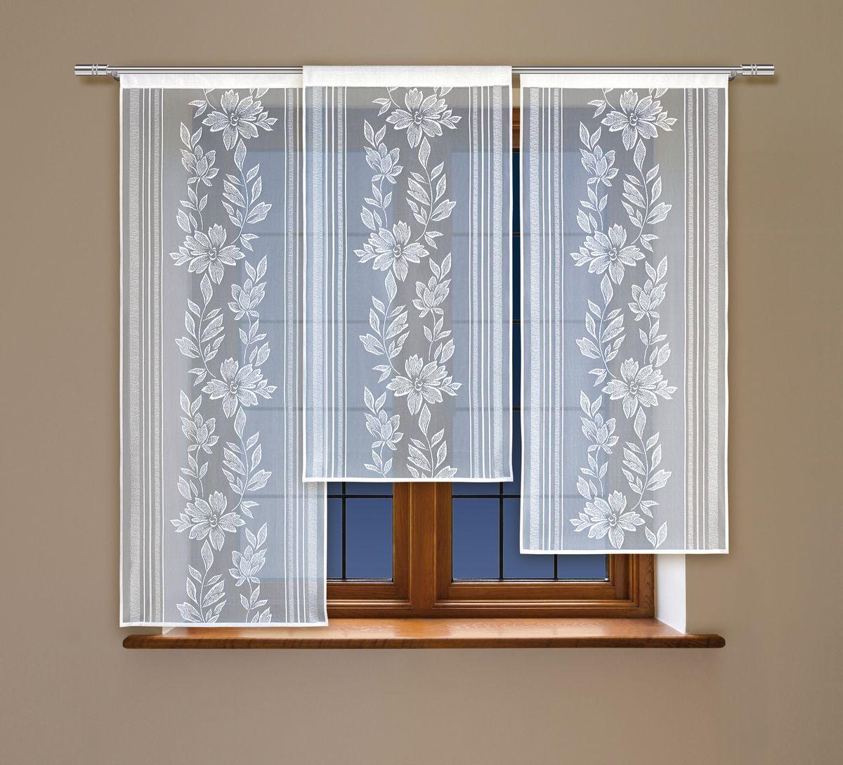 Комплект гардин Haft, на кулиске, цвет: белый, 3 шт. 212050212050Воздушные гардины Haft великолепно украсят любое окно. Комплект состоит из трех гардин, выполненных из полиэстера. Изделие имеет оригинальный дизайн и органично впишется в интерьер помещения. Комплект крепится на карниз при помощи кулиски. Размеры гардин: 160 х 60 см; 140 х 60 см; 120 х 60 см.