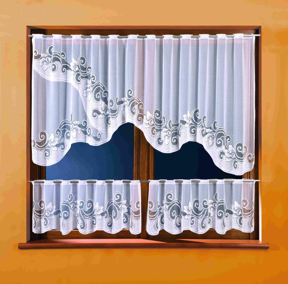 Комплект штор WISAN 250*100+(40*125)*2. 32833283Комплект штор WISAN 250*100+(40*125)*2. 3283 Материал: 100% п/э, размер: 250*100+(40*125)*2, цвет: белый
