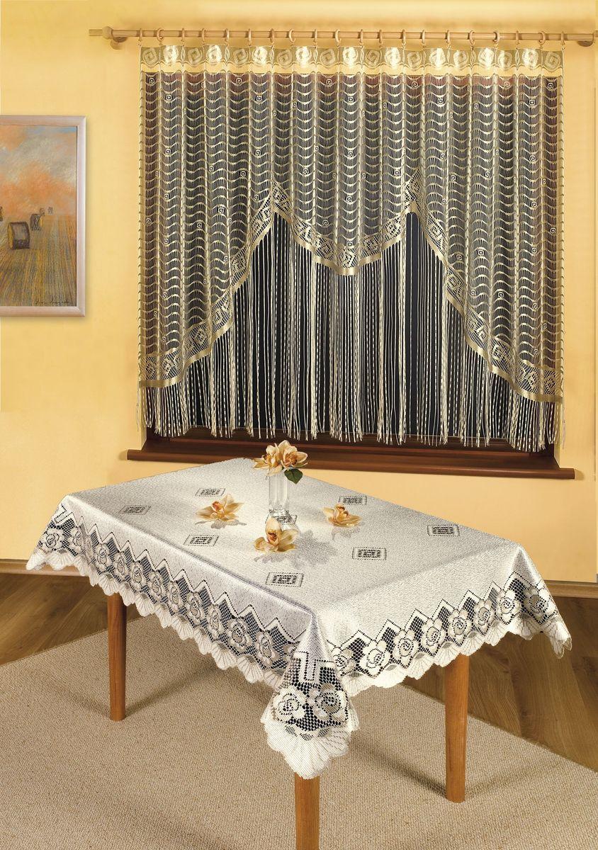 Скатерть Wisan Gerarda, прямоугольная, цвет: кремовый, 120 x 160 см
