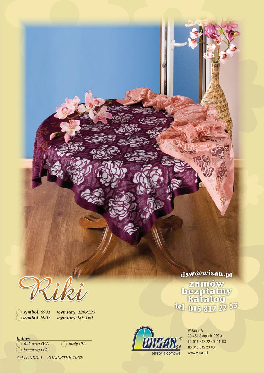 Скатерть Wisan Riki, квадратная, цвет: бордовый, 120 x 120 см8931Великолепная квадратная скатерть Wisan Riki, выполненная из 100% полиэстера, органично впишется в интерьер любого помещения, а оригинальный дизайн удовлетворит даже самый изысканный вкус. Скатерть изготовлена из сетчатого материала с ажурным цветочным орнаментом. Скатерть Wisan Riki создаст праздничное настроение и станет прекрасным дополнением интерьера гостиной, кухни или столовой.