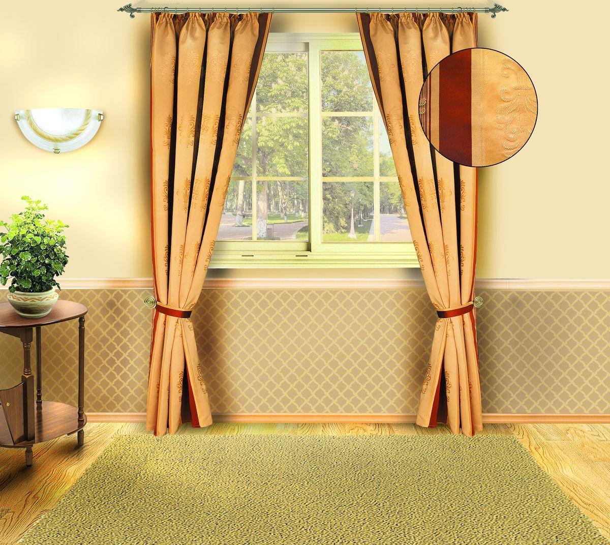 Комплект штор Zlata Korunka 140*250*2. Б140Б140Комплект штор Zlata Korunka 140*250*2. Б140 Материал: 100% п/э, размер: 140*250*2, цвет: коричневый