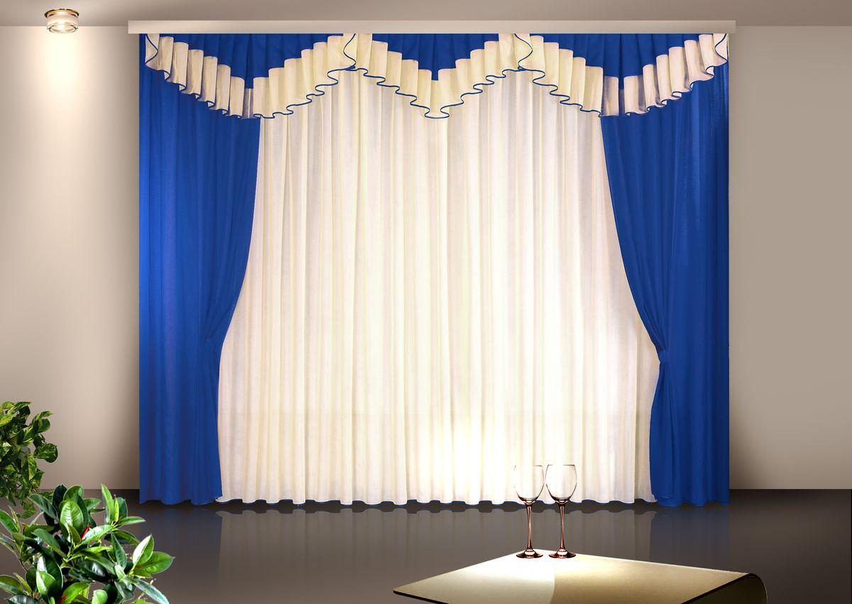 Комплект штор Zlata Korunka 500*250+(140*250)*2+.40*300. Н028Н028Комплект штор Zlata Korunka 500*250+(140*250)*2+.40*300. Н028 Материал: 100% п/э, размер: 500*250+(140*250)*2+.40*300, цвет: синий