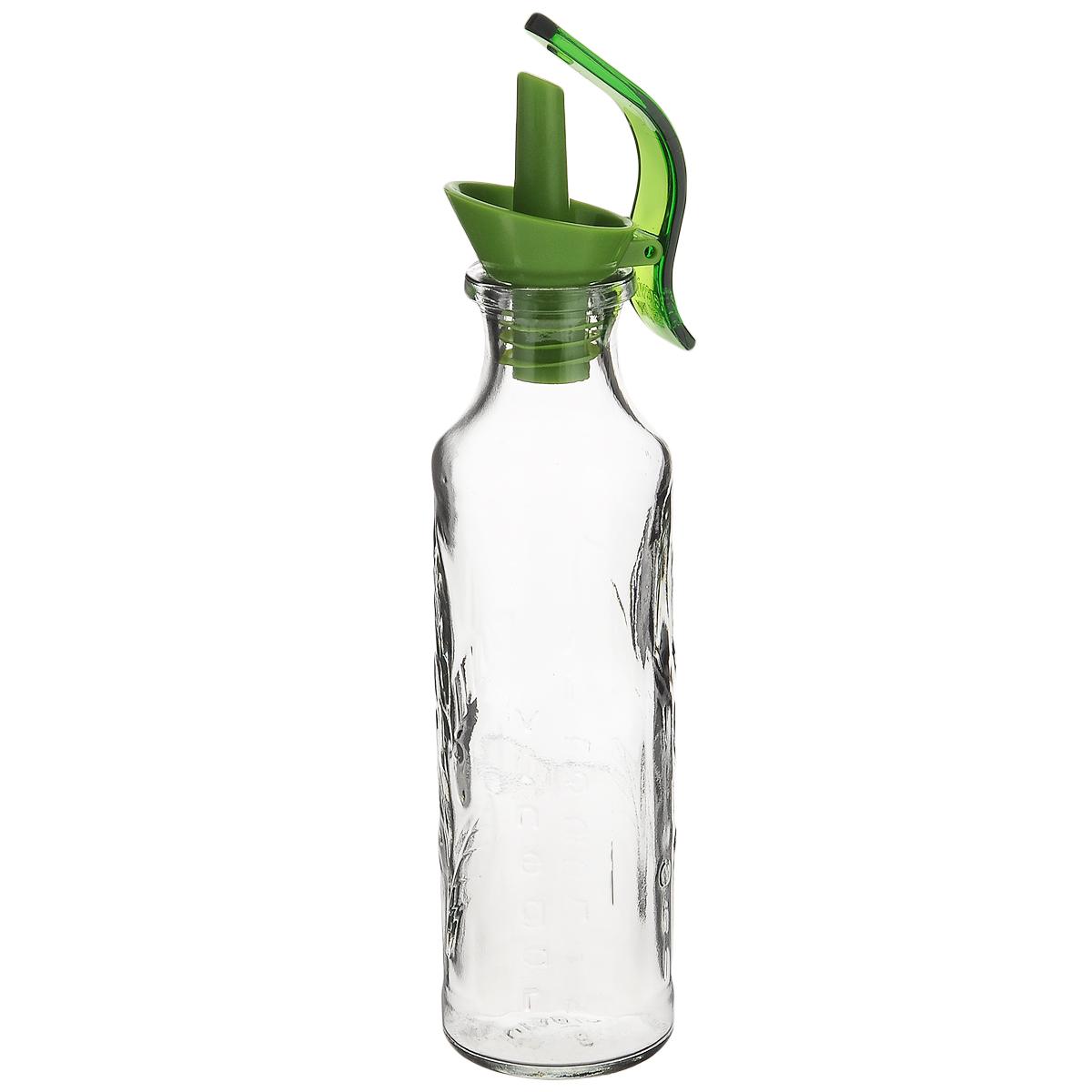 Емкость для масла Herevin, с дозатором, цвет: прозрачный, зеленый, 200 мл155175-000_зеленая крышкаЕмкость Herevin, выполненная из стекла, позволит украсить любую кухню, внеся разнообразие, как в строгий классический стиль, так и в современный кухонный интерьер. Она легка в использовании, стоит только перевернуть ее, и вы с легкостью сможете добавить оливковое, подсолнечное масло, уксус или соус. Емкость оснащена пластиковой пробкой с дозатором. Цветная пробка оснащена откидным механизмом. Оригинальная емкость для масла и уксуса будет отлично смотреться на вашей кухне. Объем: 200 мл. Диаметр (по верхнему краю): 2 см. Диаметр основания: 5 см. Высота емкости (без учета крышки): 17 см.