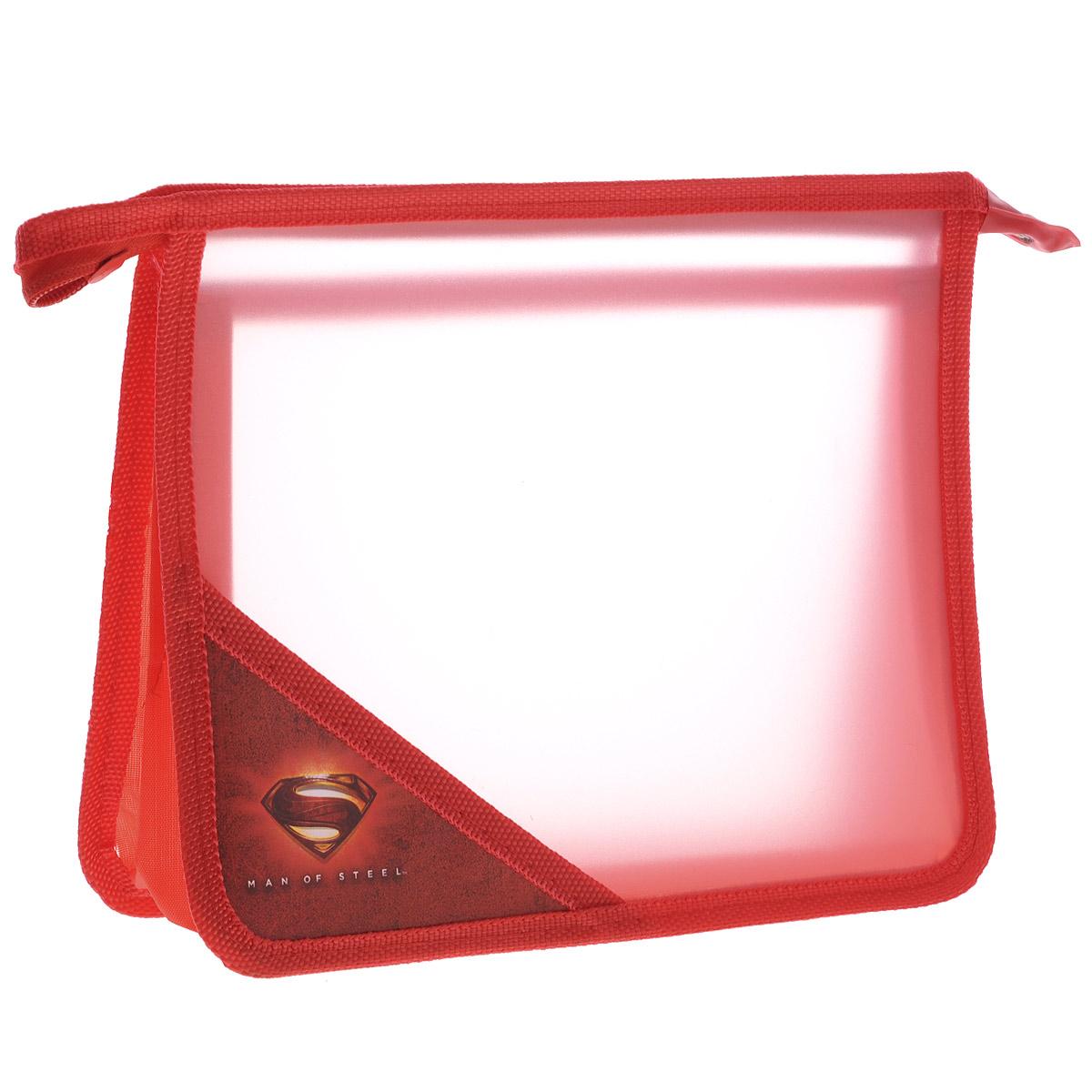 Папка для тетрадей Proff Супермен, цвет:красныйSU15-P3Папка для тетрадей Супермен поможет не растерять школьнику свои тетради, рисунки и прочие бумаги. Выполнена из прочного пластика и имеет два вместительных отделения. На углу лицевой стороны нанесен логотип Супермен. Папка разделена на два отдела полупрозрачной перегородкой, сверху закрывается на молнию. Края папки окантованы мягкой текстильной тесьмой.