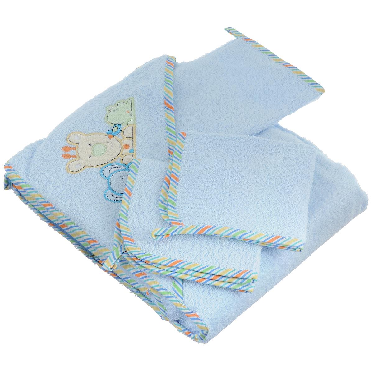 Комплект для купания Baby Nice, цвет: голубой, 4 предметаК32415