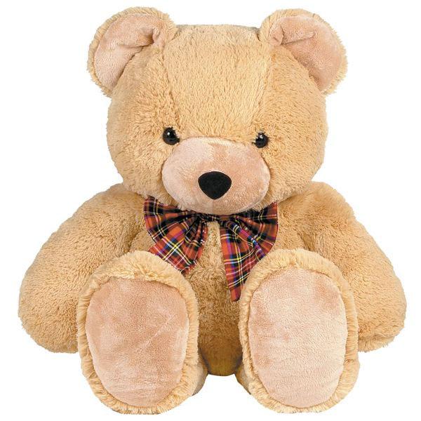 Мягкая игрушка Gulliver Мишка с бантом, цвет: светло-коричневый, 84 см