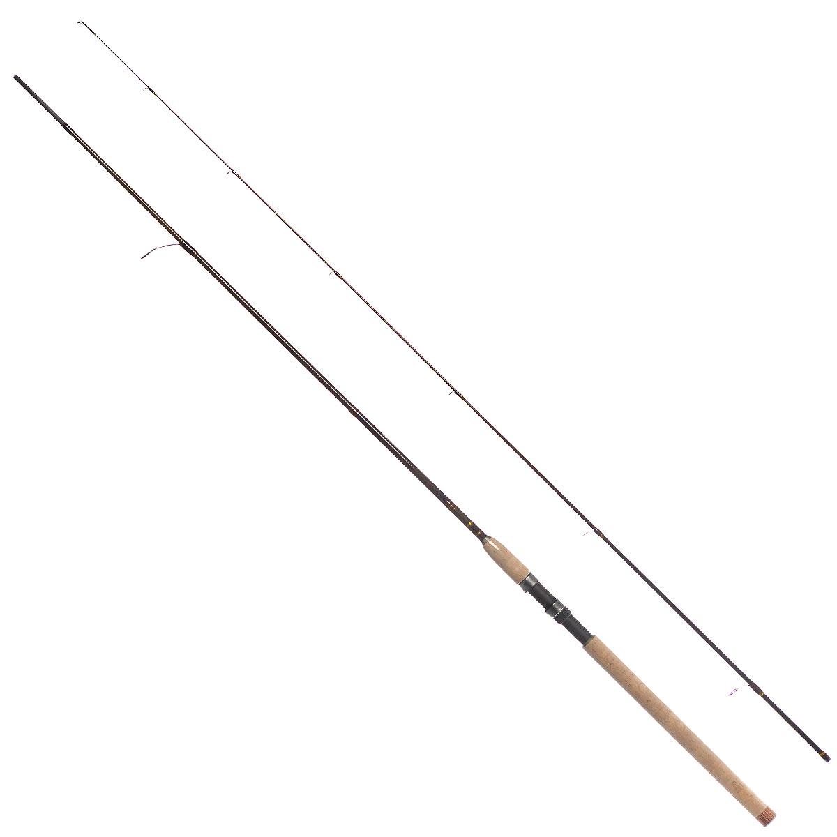 Удилище спиннинговое Daiwa New Exceler, штекерное, цвет: темно-коричневый, 2,4 м, 2-10 г