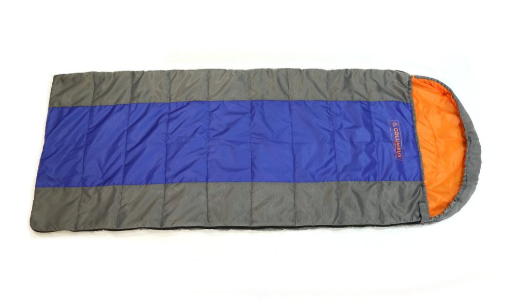 Спальный мешок-одеяло Columbus 100, цвет: серый, синий. 2787 N2787 NСпальный мешок-одеяло с подголовником Columbus 100 - незаменимая вещь для любителей уюта и комфорта во время активного отдыха. Этот теплый спальный мешок спасет вас от холода во время туристического похода, поездки на рыбалку и отдыха на природе, обеспечивая комфорт. Имеет подголовник, который при необходимости можно затянуть в форме капюшона. Быстро сохнет, занимает малый объем. Упакован в удобный чехол, который затягивается шнурком с фиксатором.
