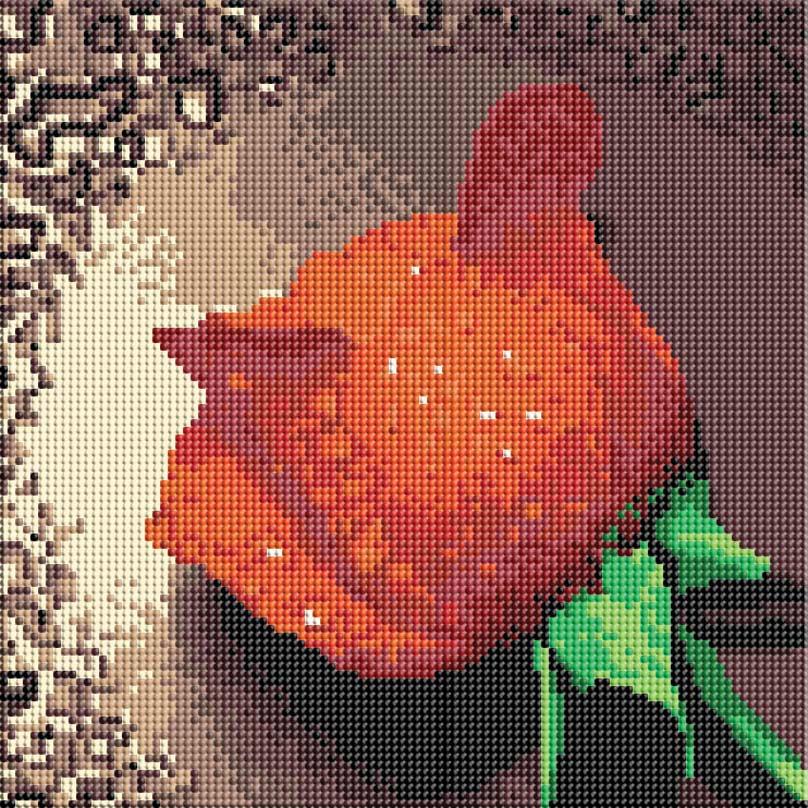 Набор для творчества Алмазная мозаика. Красный бутон, 30 см х 30 см006-RS-R Красный бутонНабор для творчества Алмазная мозаика. Красный бутон поможет вам создать свой личный шедевр - красивую картину, выполненную в мозаичной технике. Каждый камушек изготовлен из прочного материала и огранен по типу драгоценных камней. При попадании на грани солнечного или искусственного света образуется мерцающее полотно. Мозаичные картины - это новый вид творчества, который поможет создать прекрасное украшение для вашего дома. В наборе имеется холст с нанесенной схемой. С помощью пинцета стразы размещаются на холст. В результате проявляется рисунок. Для создания картины нужно лишь выложить мозаику по схеме. Вы получите огромное наслаждение от творчества. В набор входит: - основа картины - холст на подрамнике, - комплект искусственных камней, размер 2,8 мм, 19 цветов, - пинцет, - пластмассовый лоток для камней, - пластмассовый карандаш для камней, - жидкий клей.