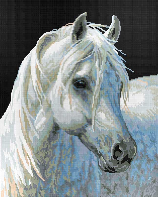 Набор для творчества Алмазная мозаика. Белый конь, 40 х 50 см090-ST-R Белый коньНабор для творчества Алмазная мозаика. Белый конь поможет вам создать свой личный шедевр - красивую картину, выполненную в мозаичной технике. Каждый камушек выполнен из прочного материала, огранен по типу драгоценных камней и при попадании на грани солнечного или искусственного света образуется мерцающее полотно. Мозаичные картины - это новый вид творчества, который поможет создать прекрасное украшение для вашего дома. В наборе имеется холст с нанесенной схемой. С помощью пинцета стразы размещаются на холст. В результате проявляется рисунок. Для создания картины нужно лишь выложить мозаику по схеме. Вы получите огромное наслаждение от творчества. В набор входит: - основа картины - холст на подрамнике, - комплект круглых искусственных камней, диаметр 2,5 мм, 20 цветов, - пинцет, - пластмассовый лоток для камней, - пластмассовый карандаш для камней, - жидкий клей.