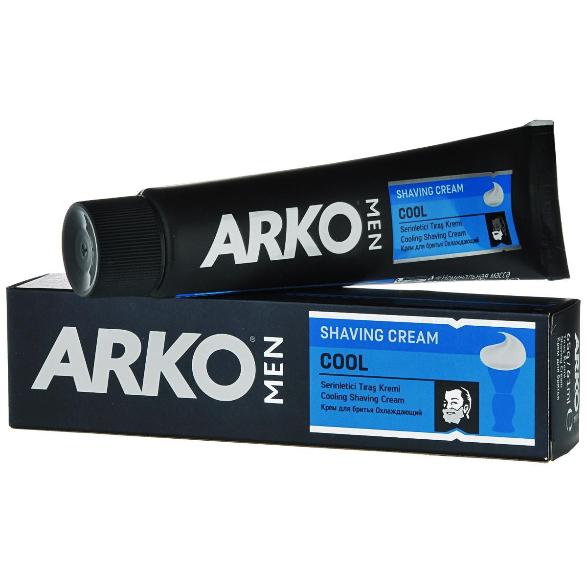 Arko MEN Крем для бритья Cool 65г800520411Экономичное традиционное средство для бритья. Благодаря натуральным смягчающим компонентам оказывает увлажняющее и освежающее действие на кожу.