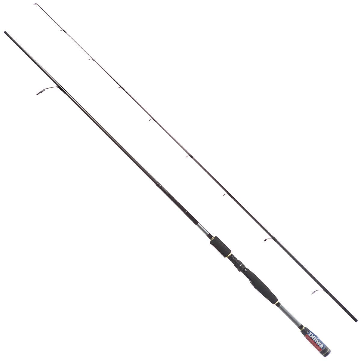 Удилище спиннинговое Daiwa Exceler, штекерное, цвет: черный, 2,44 м, 14-56 г16800Спиннинговое удилище Daiwa Exceler отличается великолепным соотношением цены и качества. Спиннинги этой серии созданы для ловли лососевых рыб. Средний строй успешно гасит сильные рывки рыбы и позволяет сделать дальний заброс. Оптимально работают с вращающимися и колеблющимися блеснами, воблерами при прямой проводке. Тест: 14-56 г Бланки из высокомодульного графита Пропускные кольца со вставками SiC Рукоятка из долговечного материала EVA Усиленное графитовой спиралью нижнее колено