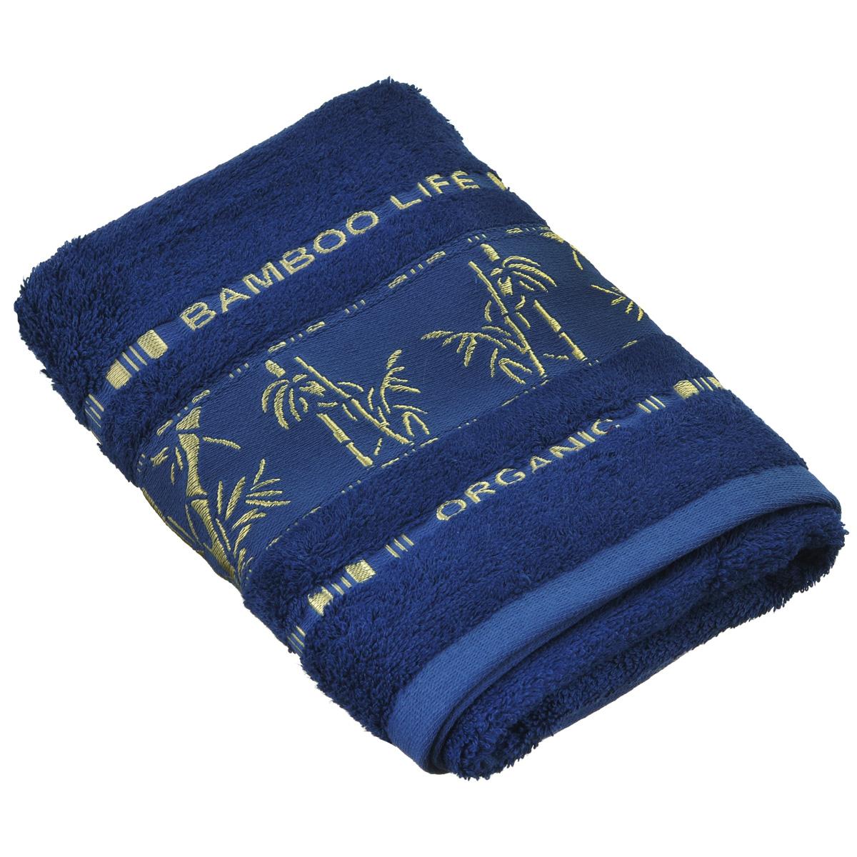 Полотенце Mariposa Bamboo, цвет: синий, 50 х 90 см52922Полотенце Mariposa Bamboo, изготовленное из 60% бамбука и 40% хлопка, подарит массу положительных эмоций и приятных ощущений. Полотенца из бамбука только издали похожи на обычные. На самом деле, при первом же прикосновении вы ощутите невероятную мягкость и шелковистость. Таким полотенцем не нужно вытираться - только коснитесь кожи - и ткань сама все впитает! Несмотря на богатую плотность и высокую петлю полотенца, оно быстро сохнет, остается легким даже при намокании. Полотенце оформлено изображением бамбука. Благородный тон создает уют и подчеркивает лучшие качества махровой ткани. Полотенце Mariposa Bamboo станет достойным выбором для вас и приятным подарком для ваших близких. Размер полотенца: 50 см х 90 см.