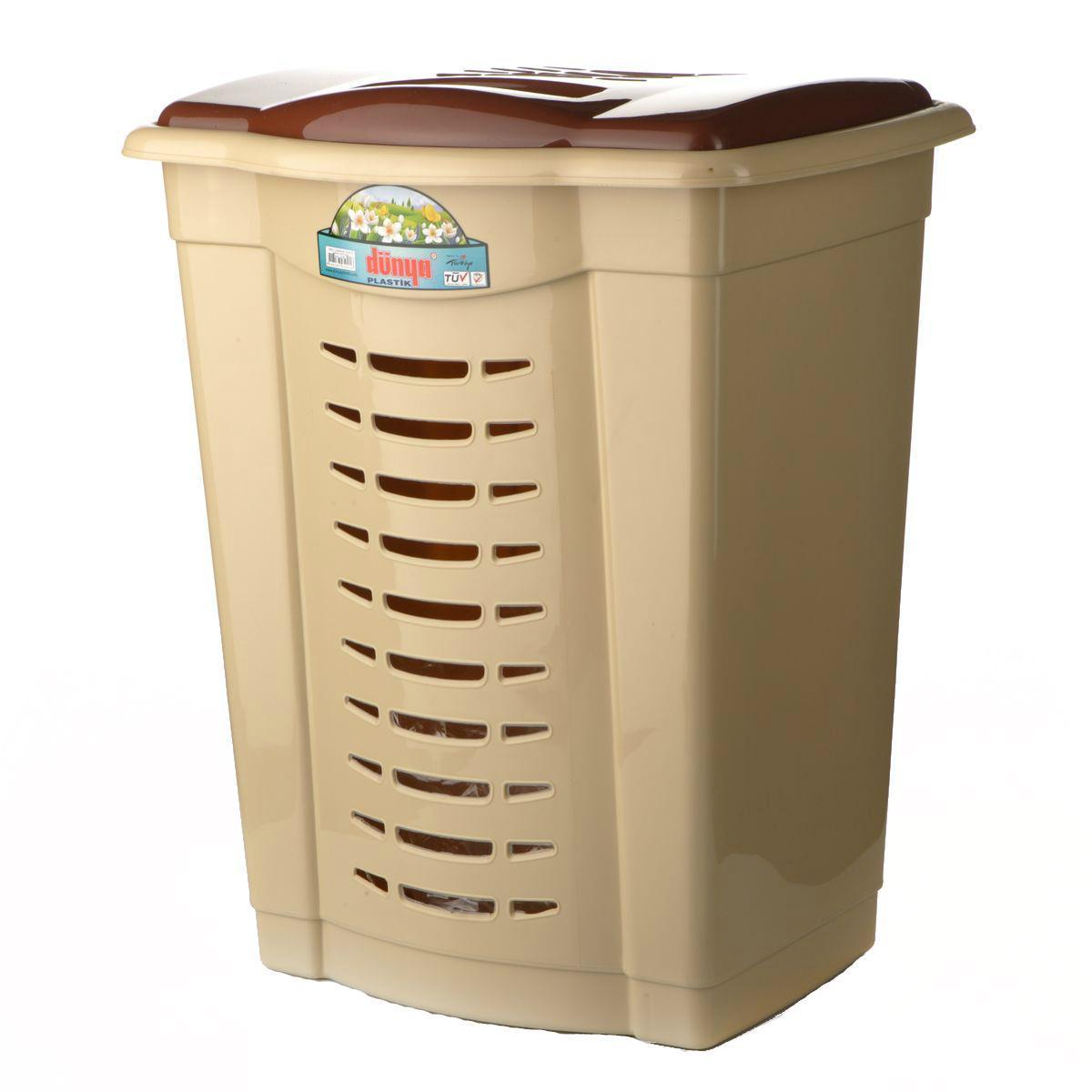 Корзина для белья Dunya Plastik, цвет: бежевый, коричневый, 43 х 33 х 54 см5001Уже около сорока лет Dunya Plastik (Дунья Пластик) занимает важное место среди производителей пластмассовых изделий. И благодаря качеству производимой продукции, эстетике и безопасности для здоровья человека и удобству изделий в использовании, привлекая покупателей доступными ценами и расширяя ассортимент, учитывая спрос, Dunya Plastik (Дунья Пластик) является одной из лидирующих в своем секторе компаний и популярной маркой. Корзина пластиковая Dunya Plastik 5001 соберет вещи в одном месте.