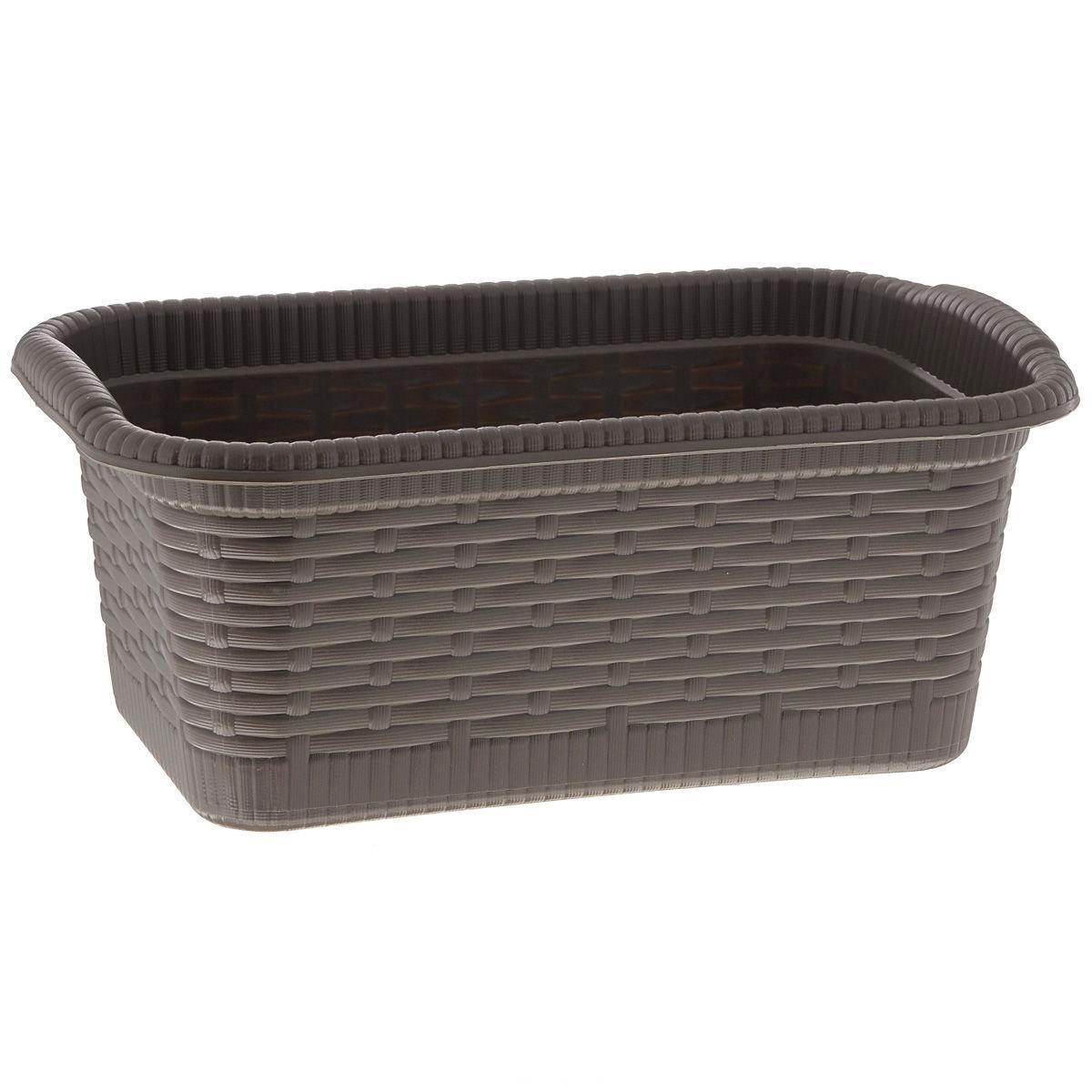 Корзина Gensini Rattan, цвет: коричневый, 3 л3322Корзина Gensini Rattan, изготовленная из прочного пластика, предназначена для хранения мелочей в ванной, на кухне, даче или гараже. Легкая корзина со сплошным дном позволяет хранить мелкие вещи, исключая возможность их потери.