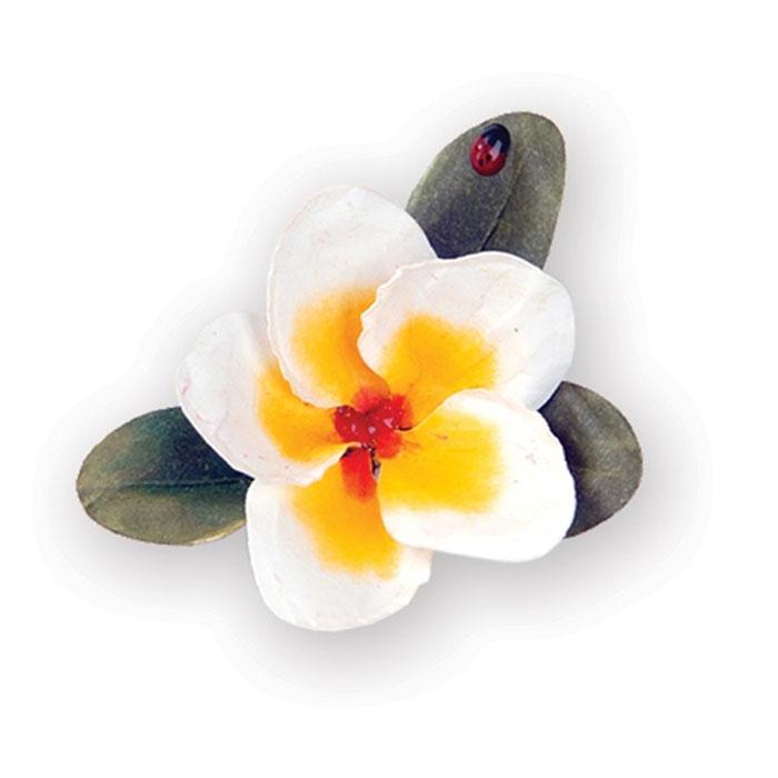 Форма для вырубки Sizzix  Цветок Плумерия, 9 лепестков. 658864658864С помощью форм для вырубки Sizzix можно создать аппликации в виде красивого цветка Плумерии. Формы для вырубки - это определенной формы ножи, обеспечивающие форму вырубной фигуры. Они режут бумагу, картон и ткань. Формы станут незаменимыми при создании скрап-страничек, открыток и конвертов с резными декоративными фигурками и ажурными украшениями. Формы для вырубки разнообразят вашу работу и добавят вдохновения для новых идей. Формы подходят для машинки для вырубки и эмбоссирования Big Shot.