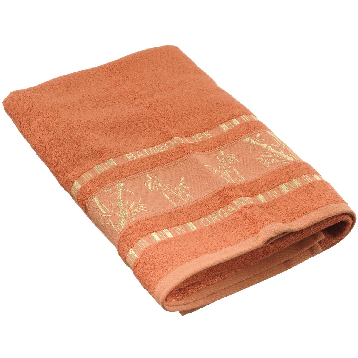 Полотенце Mariposa Bamboo, цвет: бронзовый, 70 х 140 см50838Полотенце Mariposa Bamboo, изготовленное из 60% бамбука и 40% хлопка, подарит массу положительных эмоций и приятных ощущений. Полотенца из бамбука только издали похожи на обычные. На самом деле, при первом же прикосновении вы ощутите невероятную мягкость и шелковистость. Таким полотенцем не нужно вытираться - только коснитесь кожи - и ткань сама все впитает! Несмотря на богатую плотность и высокую петлю полотенца, оно быстро сохнет, остается легким даже при намокании. Полотенце оформлено изображением бамбука. Благородный тон создает уют и подчеркивает лучшие качества махровой ткани. Полотенце Mariposa Bamboo станет достойным выбором для вас и приятным подарком для ваших близких. Размер полотенца: 70 см х 140 см.