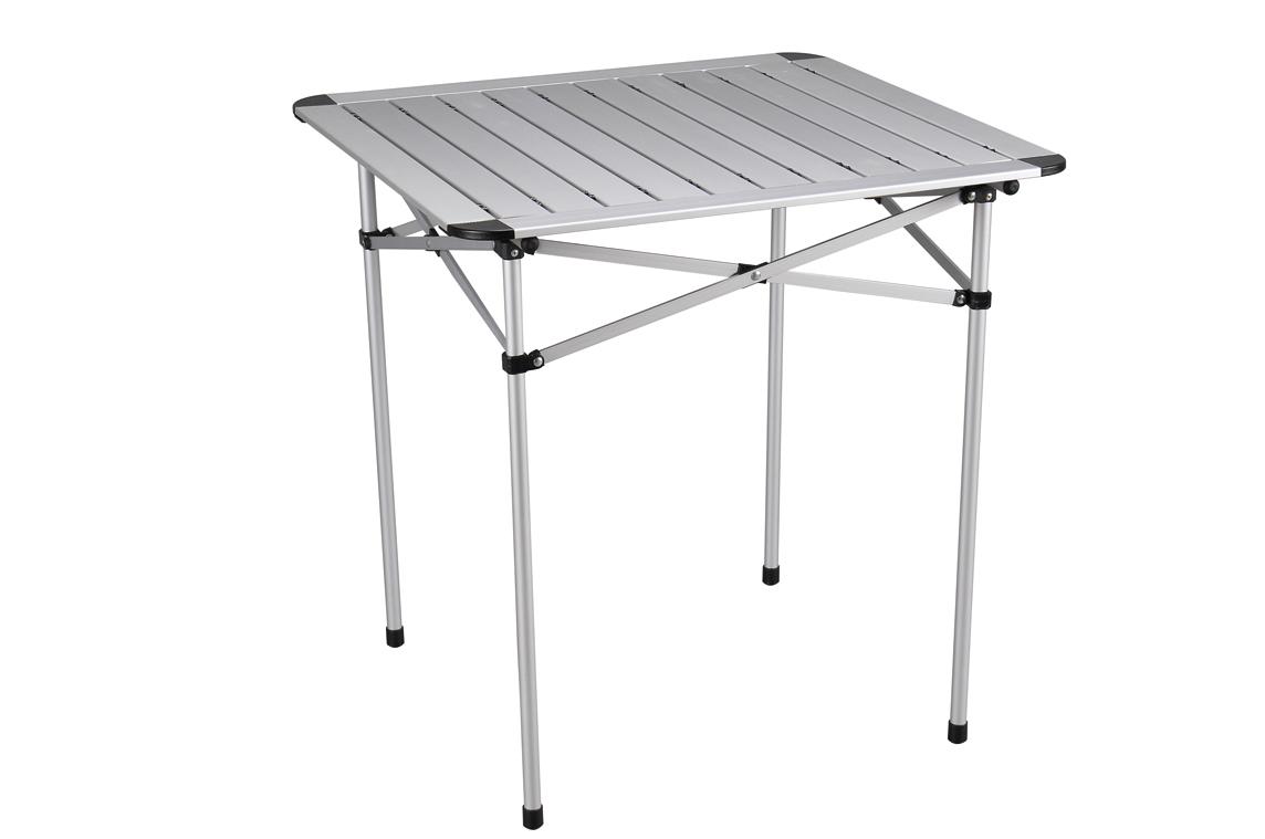 Стол складной Green Glade, 70 см х 70 см х 70 см5205Складной стол Green Glade со столешницей из наборного алюминия предназначен для использования на природе, дома, охоте, рыбалке. - Столешница из наборного алюминия компактно скручивается в рулон. - Складывается в чехол из прочного материала с лямкой для переноски. - В сложенном состоянии занимает мало места. - Легкий алюминиевый каркас диаметром 19 мм.