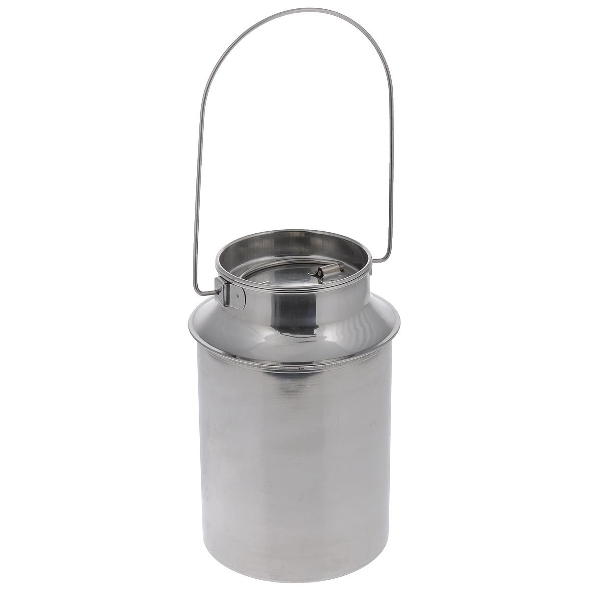 Бидон Padia, 3 л. 6100-226100-22Бидон Padia предназначен для хранения и переноски пищевых продуктов, таких как молоко, вода и т.д. Изделие выполнено из высококачественной нержавеющей стали. Бидон оснащен ручкой для удобной переноски и крышкой. Бидон Padia станет незаменимым аксессуаром на вашей кухне. Объем: 3 л. Высота бидона (без учета ручки): 24 см. Диаметр дна: 16,5 см. Диаметр (по верхнему краю): 12,5 см.