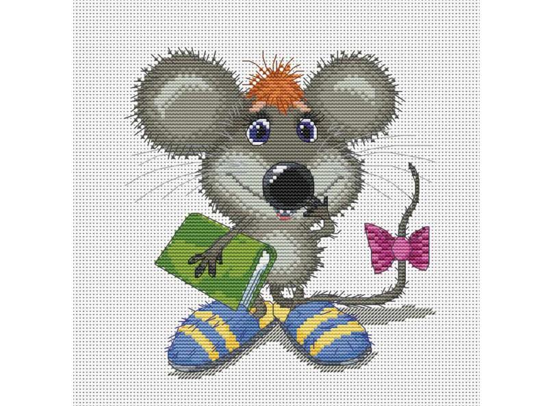 Набор для вышивания крестом Белоснежка Ученый мышонок, 23 х 24 см163-14 Ученый мышонокНабор для вышивания крестом Белоснежка Ученый мышонок поможет вам создать свой личный шедевр - красивую картину, вышитую в технике счетный крест. Вышивание отвлечет вас от повседневных забот и превратится в увлекательное занятие! Работа, сделанная своими руками, создаст особый уют и атмосферу в доме, и долгие годы будет радовать вас и ваших близких, а подарок, выполненный собственноручно, станет самым ценным для друзей и знакомых. В набор входят: - канва Аида 14 белая, - цветная символьная схема, - нитки мулине для вышивания: 26 цветов, - игла: 2 шт., - инструкция на русском языке.