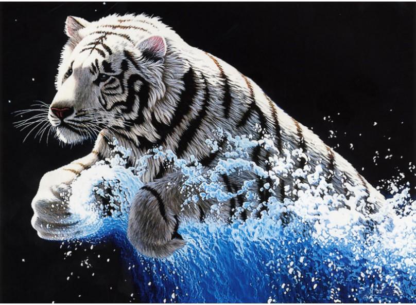 Набор для вышивания крестом Белоснежка Белый тигр, 68 х 52 см7071-3D Белый тигрНабор для вышивания крестом Белоснежка Белый тигр поможет вам создать свой личный шедевр - красивую картину, вышитую в технике счетный крест. Вышивание отвлечет вас от повседневных забот и превратится в увлекательное занятие! Работа, сделанная своими руками, создаст особый уют и атмосферу в доме, и долгие годы будет радовать вас и ваших близких, а подарок, выполненный собственноручно, станет самым ценным для друзей и знакомых. В набор входят: - канва Аида 11 белая, - цветная символьная схема, - нитки мулине для вышивания: 25 цветов, - игла: 2 шт., - инструкция на русском языке.