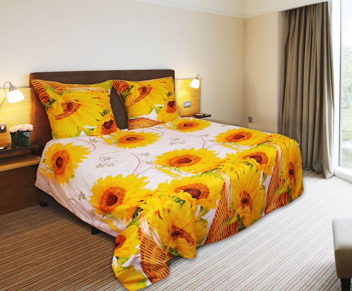 Комплект белья 3D Amore Mio ET Podsolnuh, 1,5-спальный, наволочки 70х70, цвет: белый, зеленый, желтый. 7488274882Комплект постельного белья Amore Mio ET Podsolnuh является экологически безопасным для всей семьи, так как выполнен из мако-сатина. Комплект состоит из пододеяльника, простыни и двух наволочек. Постельное белье оформлено оригинальным 3D рисунком и имеет изысканный внешний вид. Мако-сатин - свежее решение для уюта на даче или дома, созданное с любовью для вашего комфорта и отличного настроения! Нано-инновации позволили открыть новую ткань, полученную в результате высокотехнологического процесса, которая сочетает в себе широкий спектр отличных потребительских характеристик и невысокой стоимости. Легкая, плотная, мягкая ткань отлично стирается, гладится, быстро сохнет. Дисперсное крашение великолепно передает качество рисунков и необычайно устойчиво к истиранию. Процесс ворсования поверхности придает полотну дополнительную нежность шелка и дарит необычайно сладкую негу тактильных удовольствий.