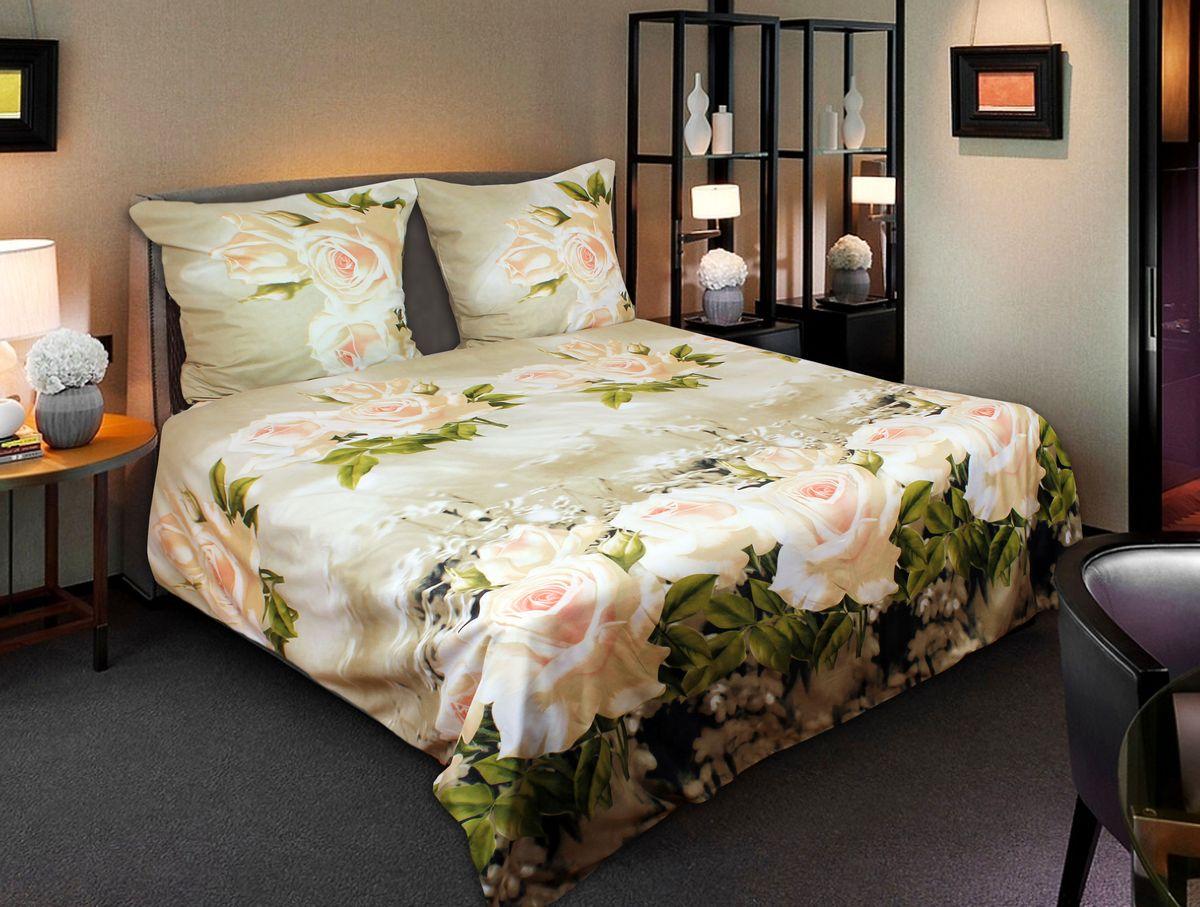 Комплект белья 3D Amore Mio ET Lady, 2-спальный, наволочки 70х70, цвет: зеленый, молочный. 7489974899Комплект постельного белья Amore Mio ET Lady является экологически безопасным для всей семьи, так как выполнен из мако-сатина. Комплект состоит из пододеяльника, простыни и двух наволочек. Постельное белье оформлено оригинальным 3D рисунком и имеет изысканный внешний вид. Мако-сатин - свежее решение для уюта на даче или дома, созданное с любовью для вашего комфорта и отличного настроения! Нано-инновации позволили открыть новую ткань, полученную в результате высокотехнологического процесса, которая сочетает в себе широкий спектр отличных потребительских характеристик и невысокой стоимости. Легкая, плотная, мягкая ткань отлично стирается, гладится, быстро сохнет. Дисперсное крашение великолепно передает качество рисунков и необычайно устойчиво к истиранию. Процесс ворсования поверхности придает полотну дополнительную нежность шелка и дарит необычайно сладкую негу тактильных удовольствий.