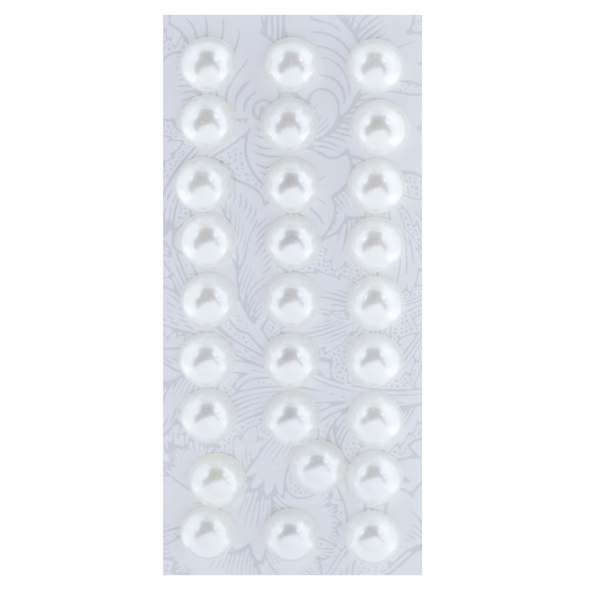 Наклейки декоративные Астра, цвет: белый (10), диаметр 10 мм, 27 шт7704129_10Декоративные наклейки Астра, изготовленные из пластика, прекрасно подойдут для оформления творческих работ в технике скрапбукинга. Их можно использовать для украшения фотоальбомов, скрап-страничек, подарков, конвертов, фоторамок, открыток и т.д. Объемные наклейки круглой формы оснащены задней клейкой стороной. Скрапбукинг - это хобби, которое способно приносить массу приятных эмоций не только человеку, который этим занимается, но и его близким, друзьям, родным. Это невероятно увлекательное занятие, которое поможет вам сохранить наиболее памятные и яркие моменты вашей жизни, а также интересно оформить интерьер дома. Диаметр наклейки: 10 мм.